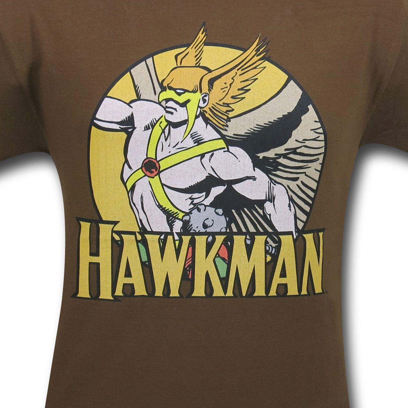 Hawkman Circle Brown T-Shirt