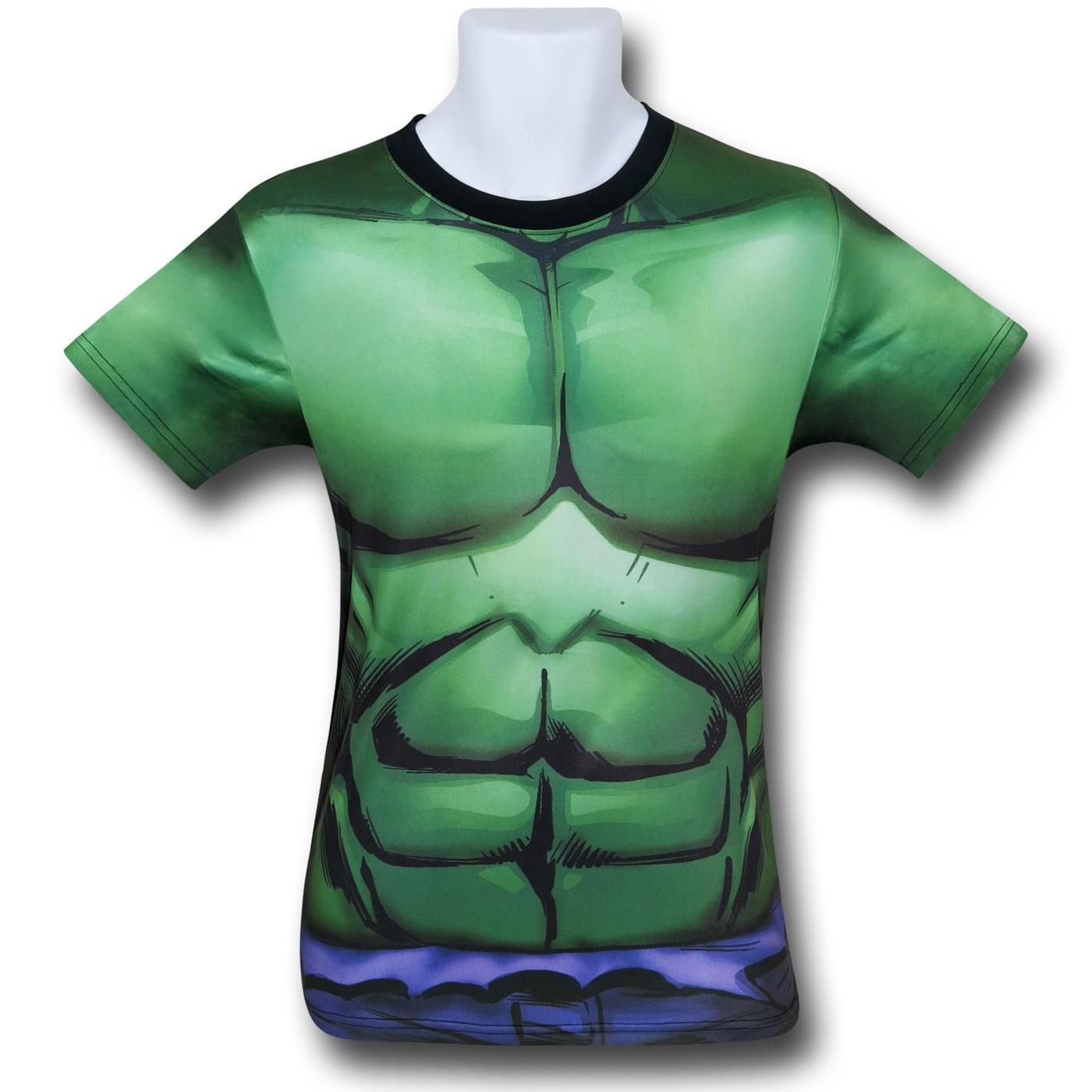 Hulk Sublimated Costume Fitness T-Shirt