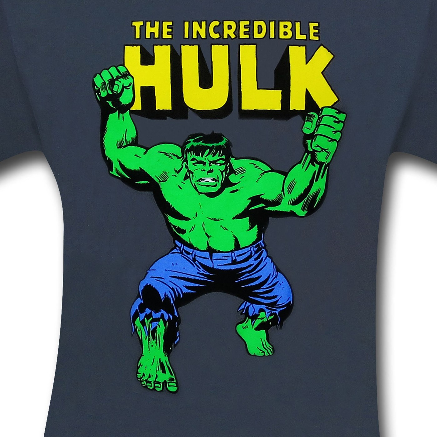 Hulk With Fists & Logo Charcoal T-Shirt