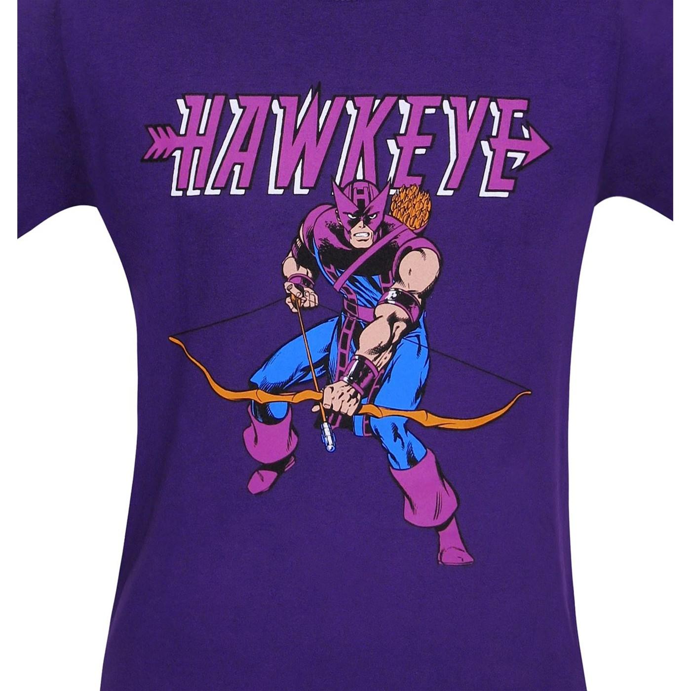Hawkeye Retro Purple T-Shirt