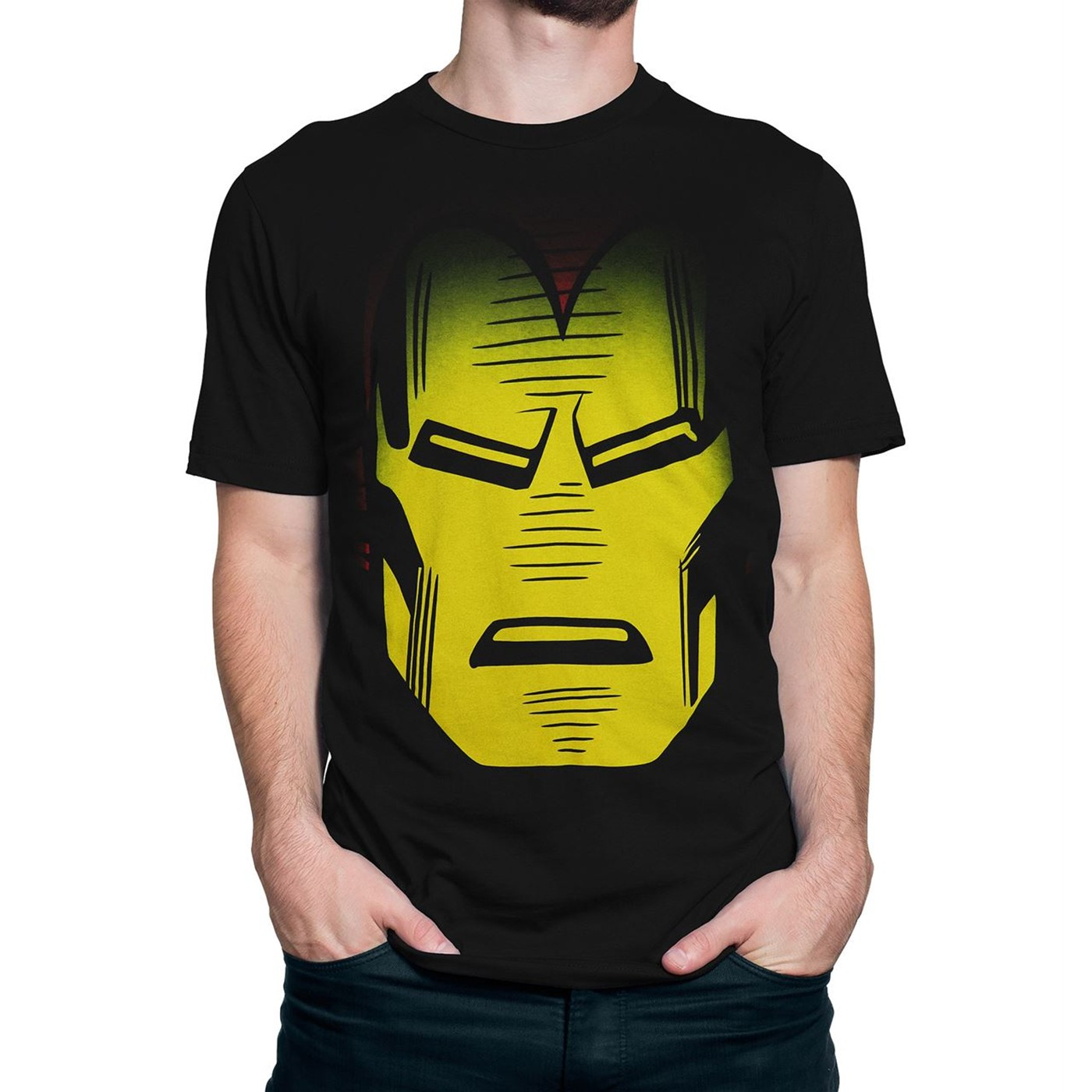 Iron Man Helmet Head Men's T-Shirt