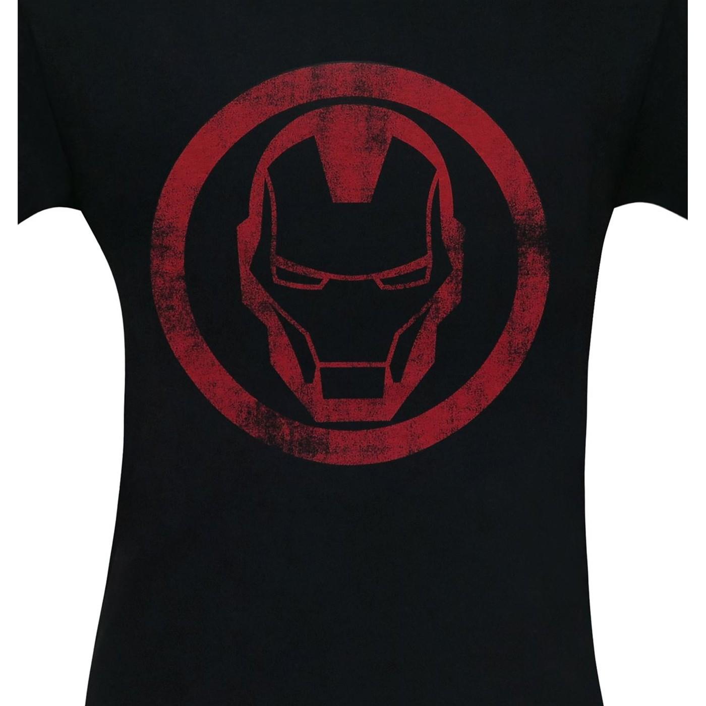 Iron Man Distressed Icon Men's T-Shirt