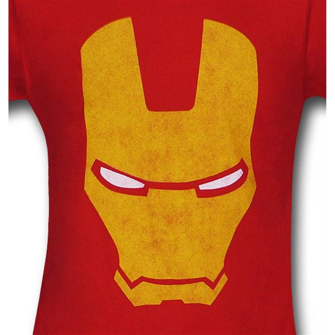 Iron Man Distressed Gold Head 30 Single T-Shirt