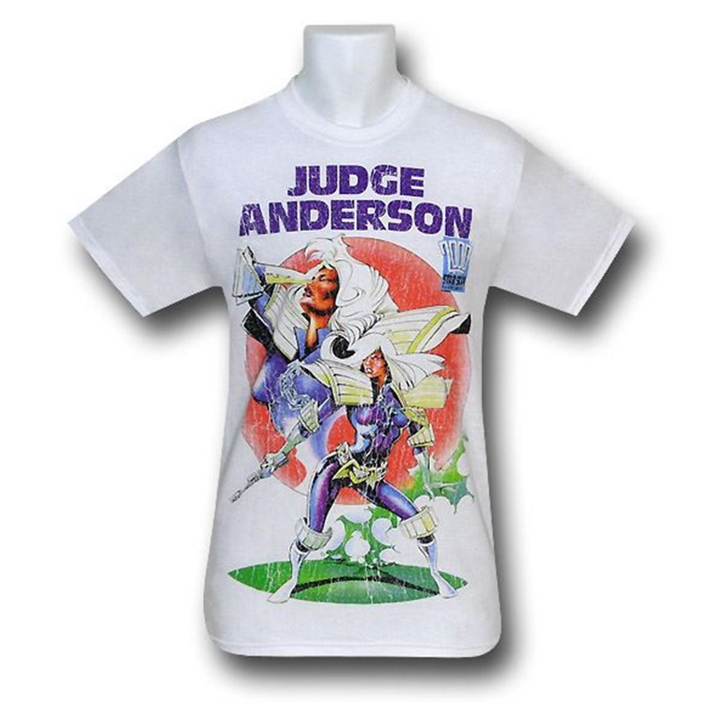 Judge Dredd Judge Anderson White T-Shirt