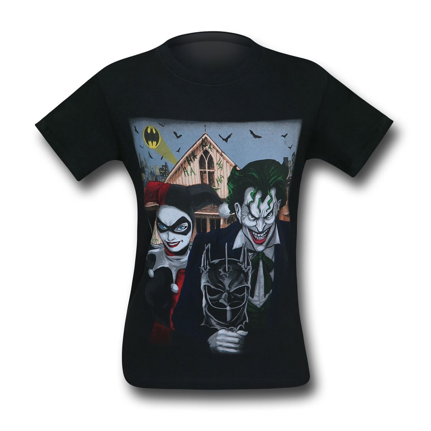 Joker and Harley American Gothic Men's T-Shirt