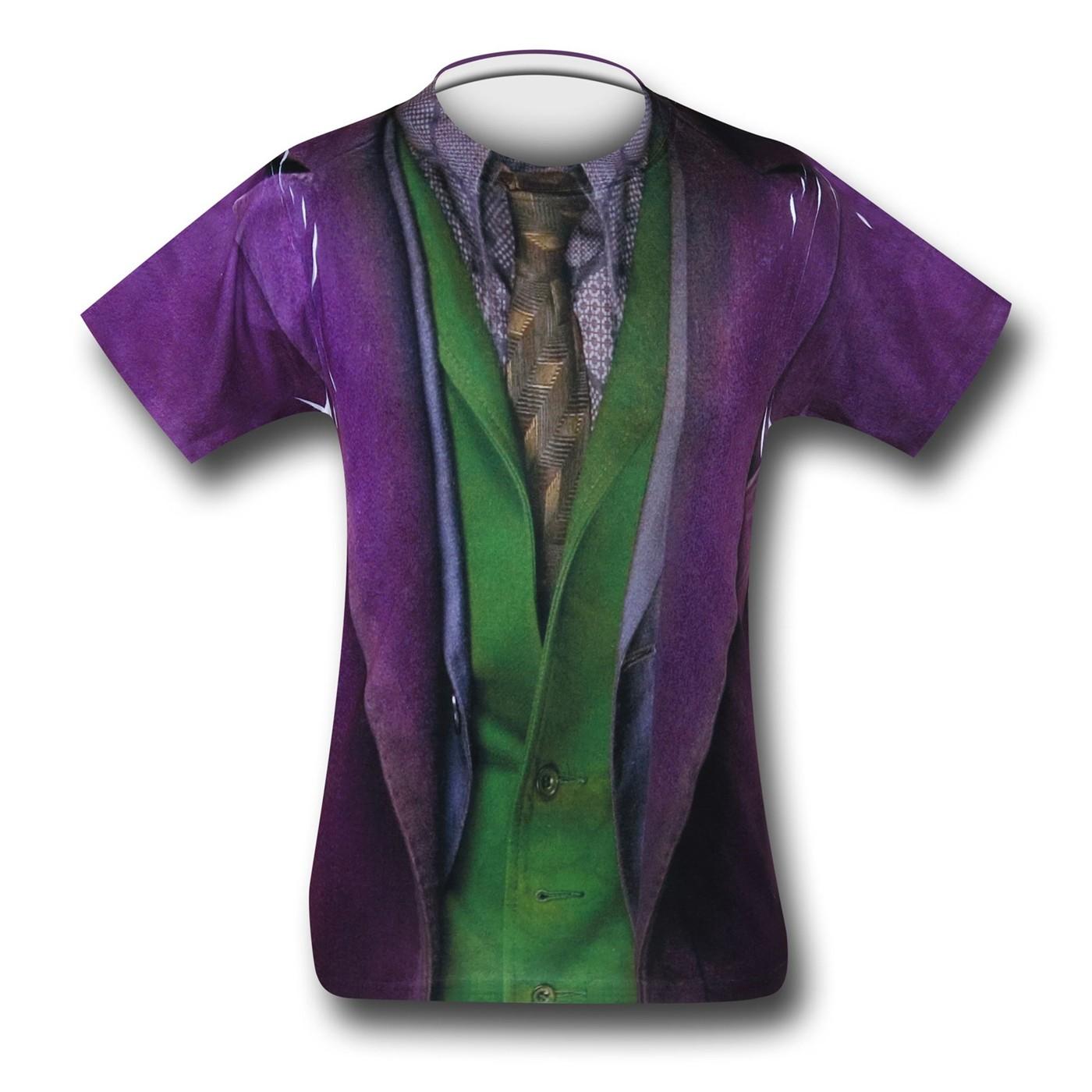 Joker Dark Knight Sublimated Costume T-Shirt