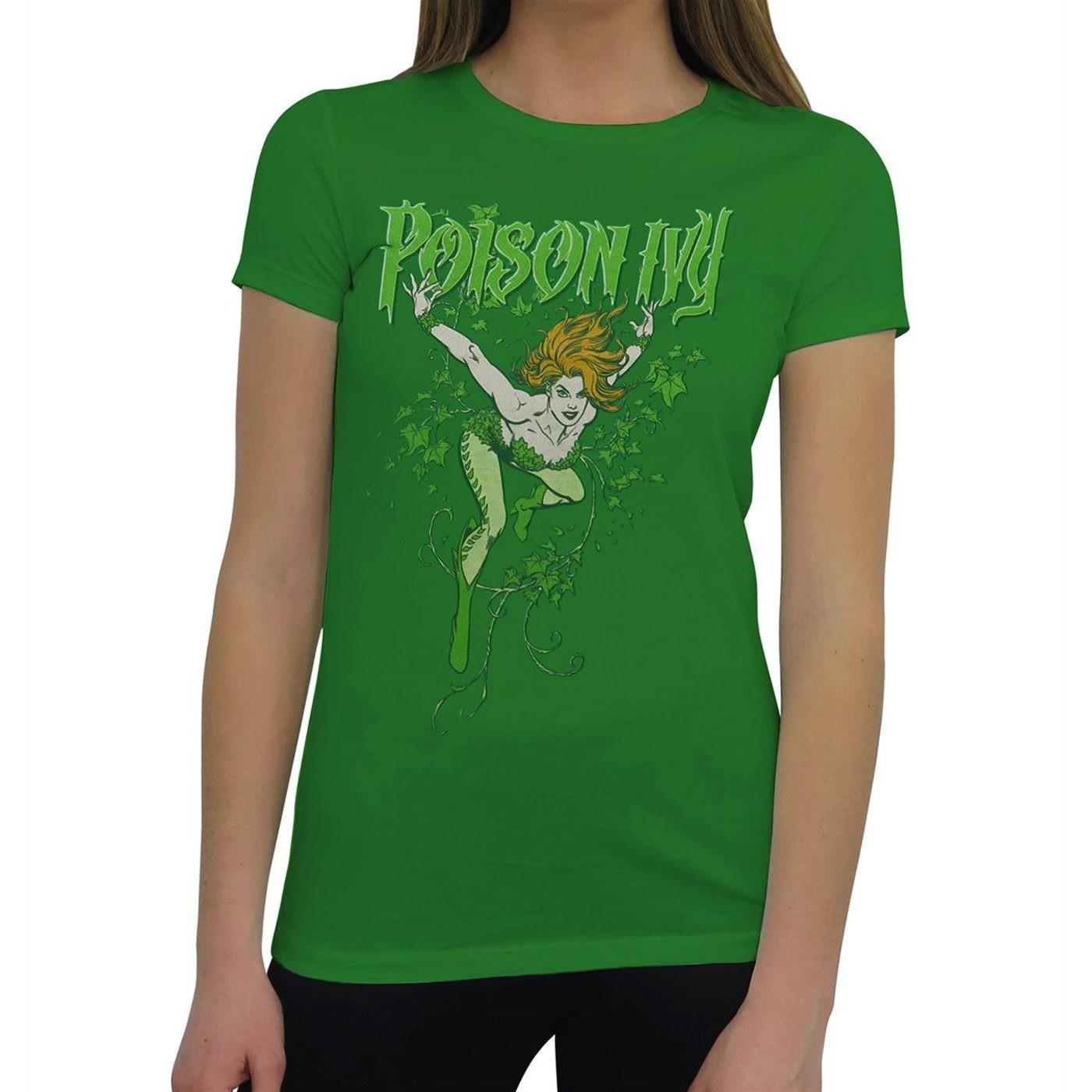 Poison Ivy Women's Green T-Shirt