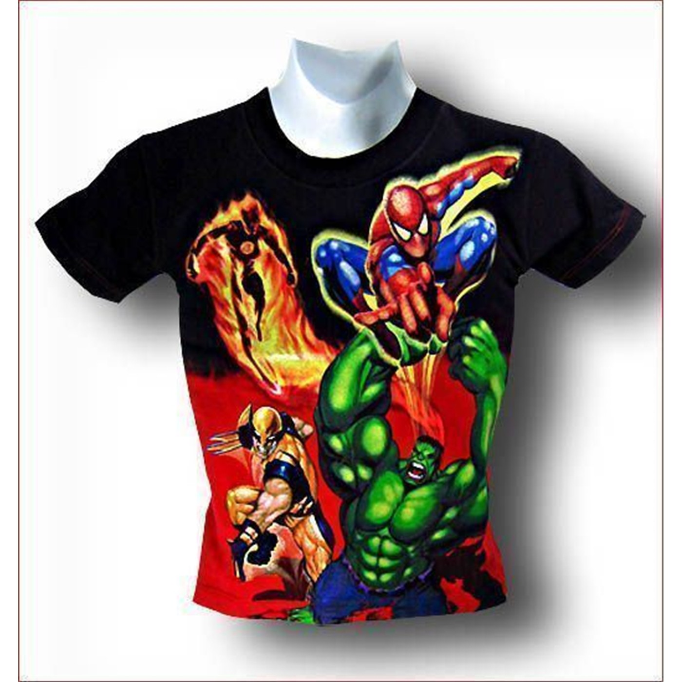 Spiderman Hulk Juvenile Marvel Blast T-Shirt