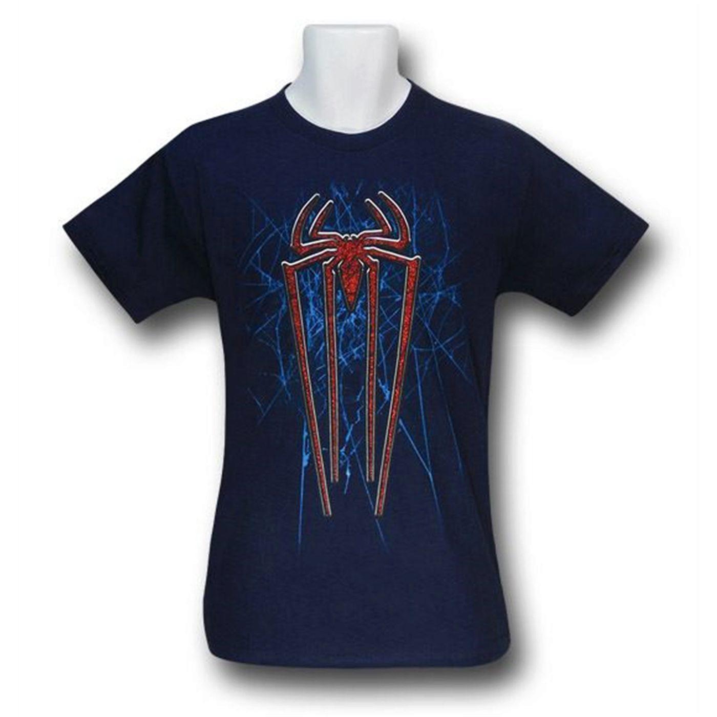 Amazing Spider-Man Movie Kids Red Glitter Symbol T-Shirt