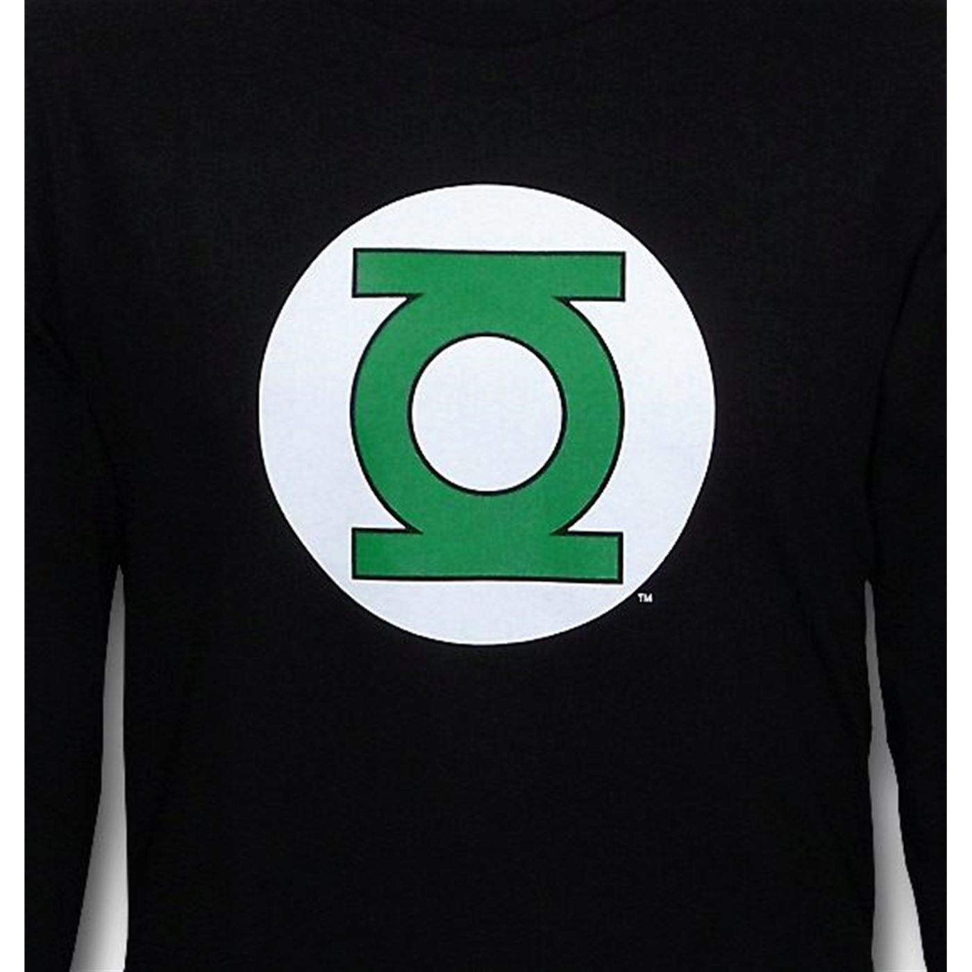 Green Lantern Symbol Long Sleeve Black T-Shirt