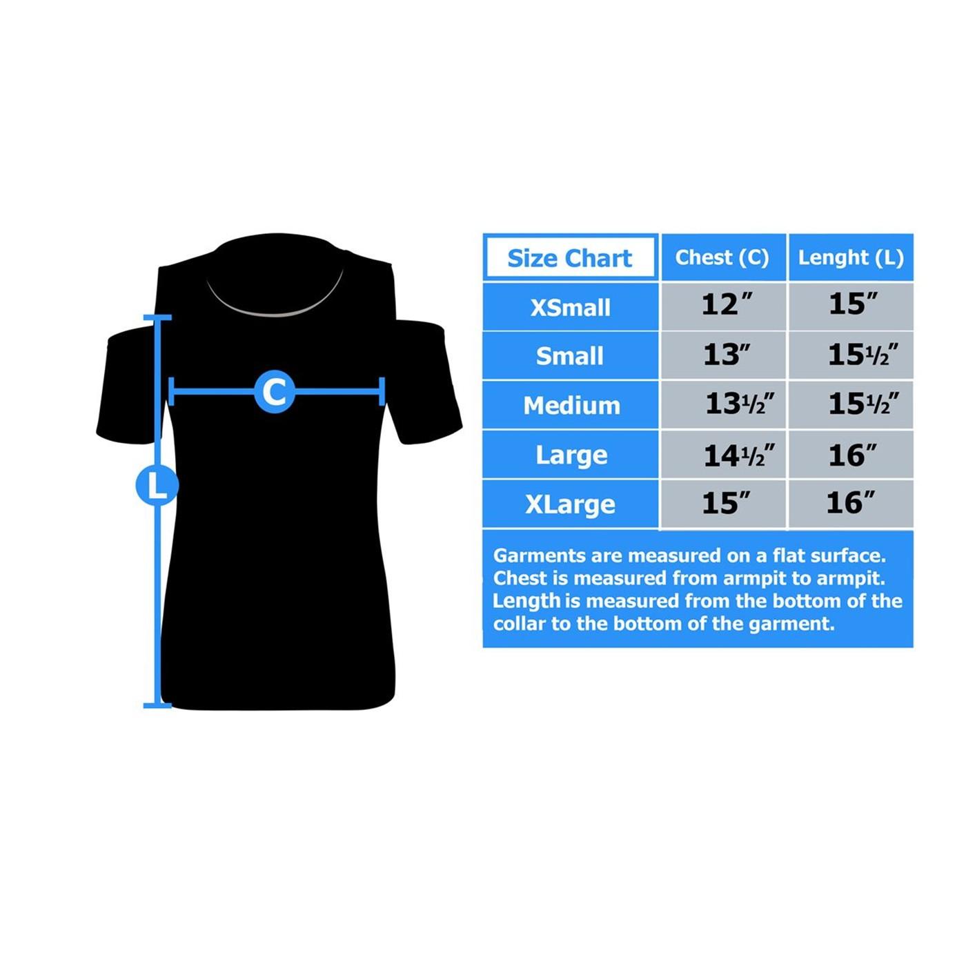 Marvel Logo Cold Shoulder Girls' T-Shirt