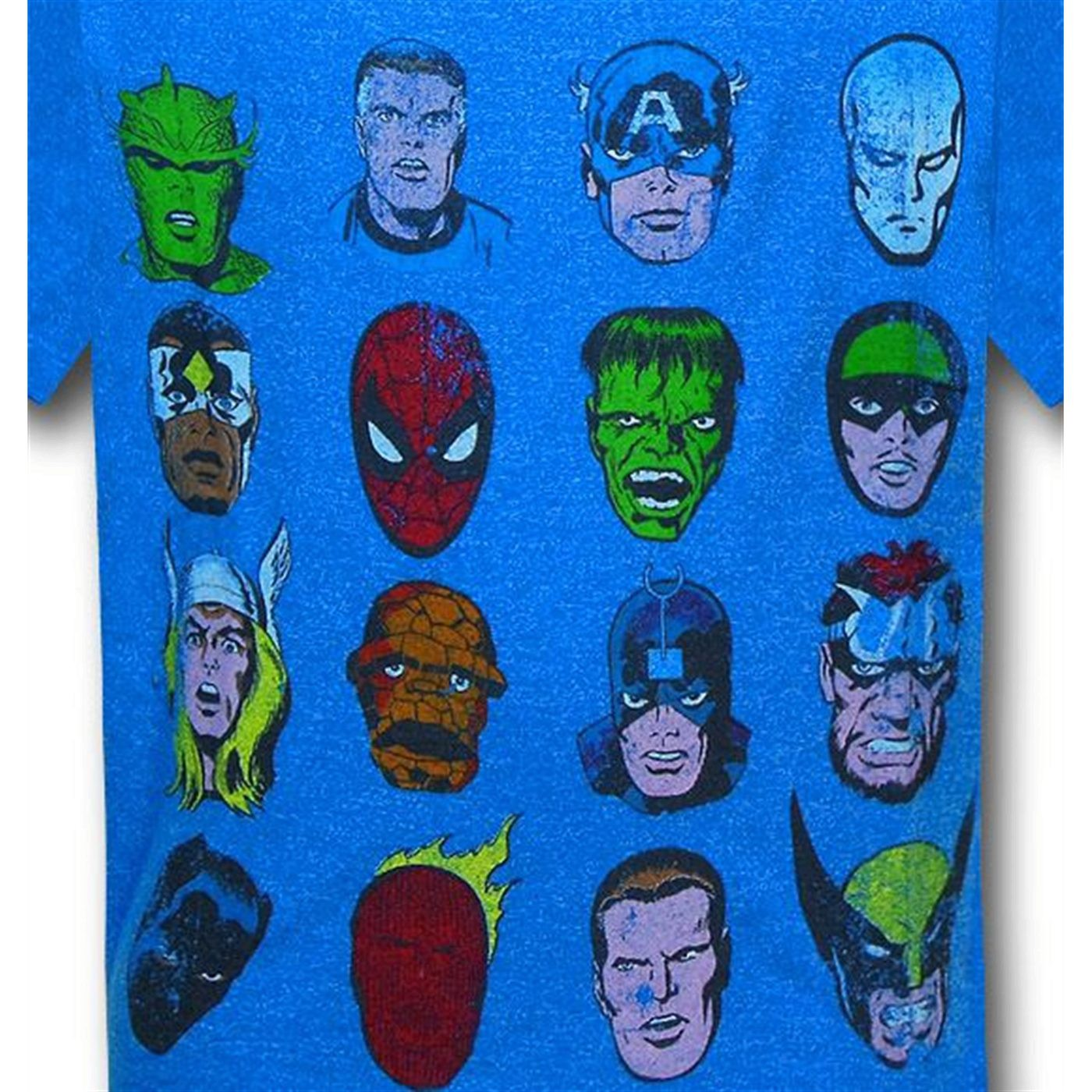 Marvel Heads Kids Red Decco T-Shirt