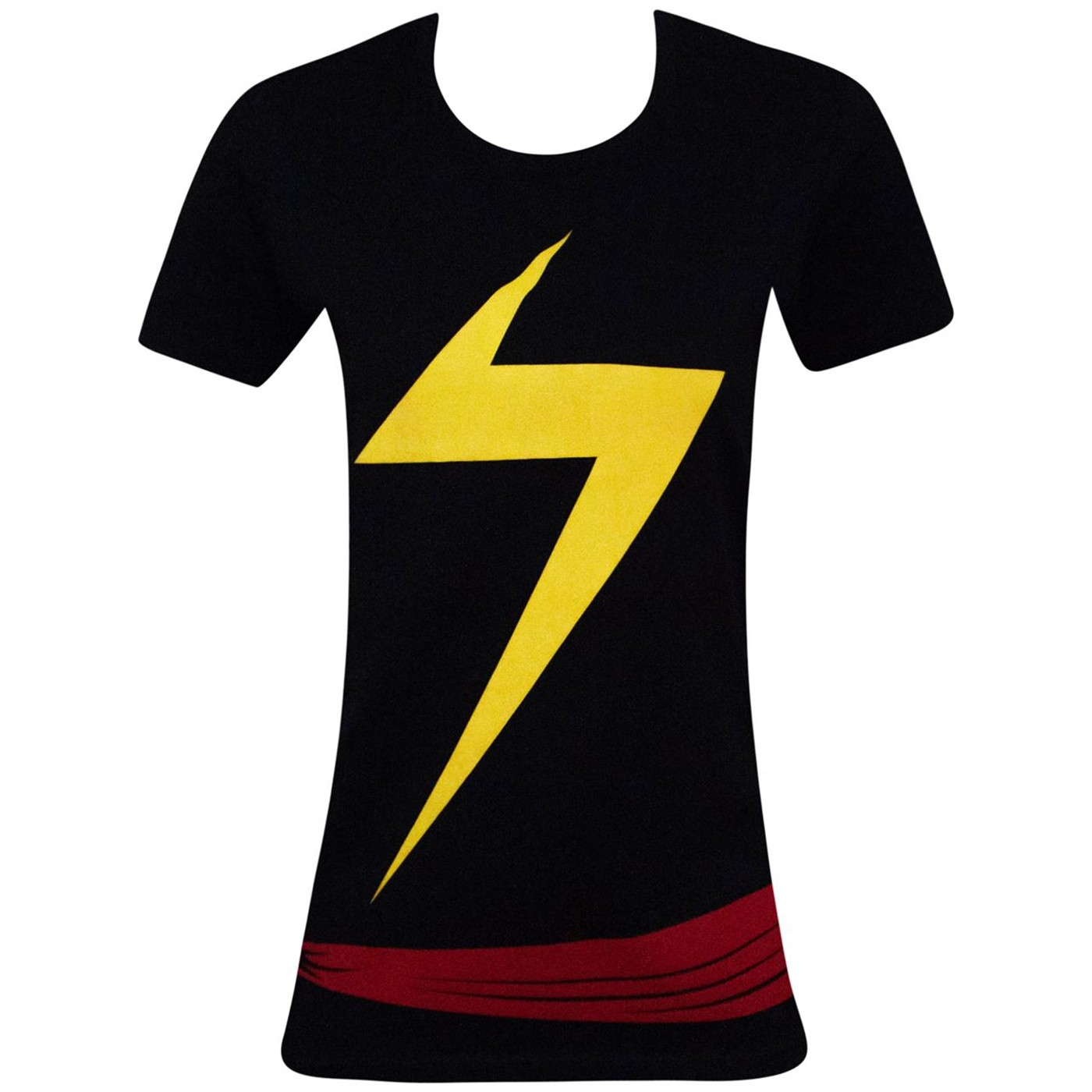 Ms. Marvel Women's Costume Fitted T-Shirt