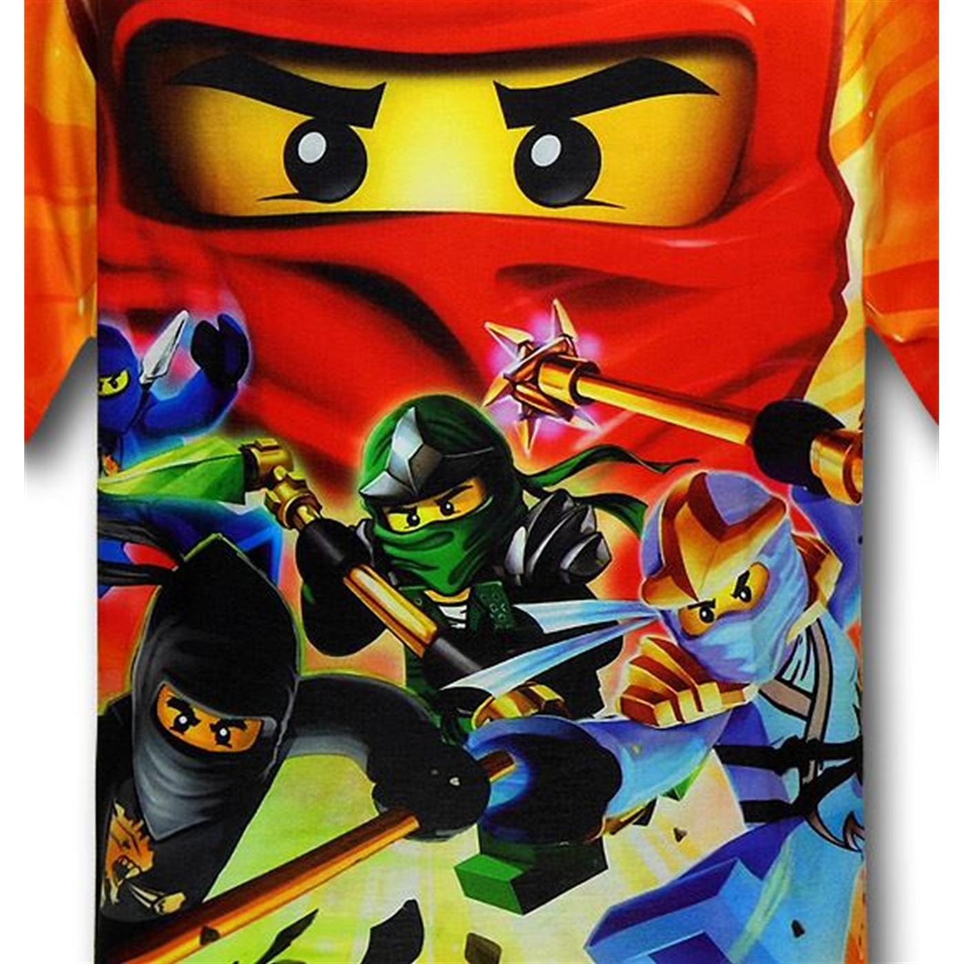 ninjago kids allover print tshirt