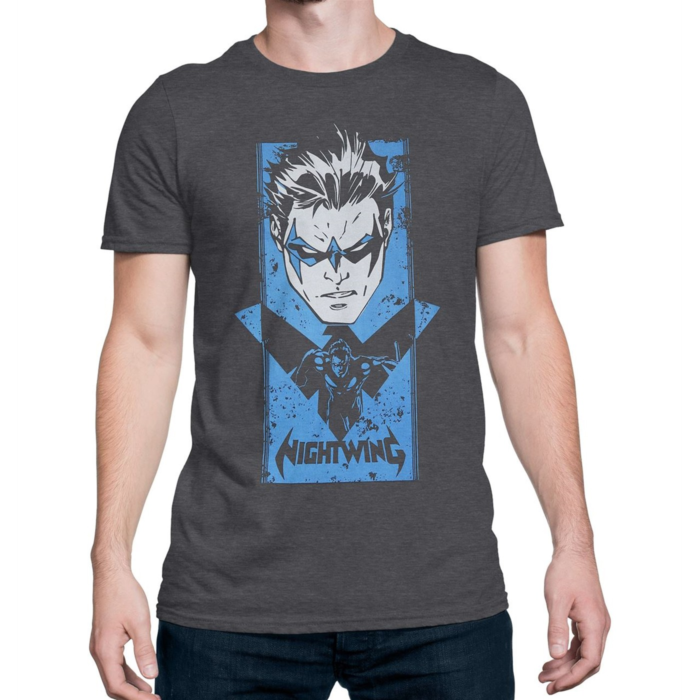 Nightwing Patroller of Bl├╝dhaven Men's T-Shirt