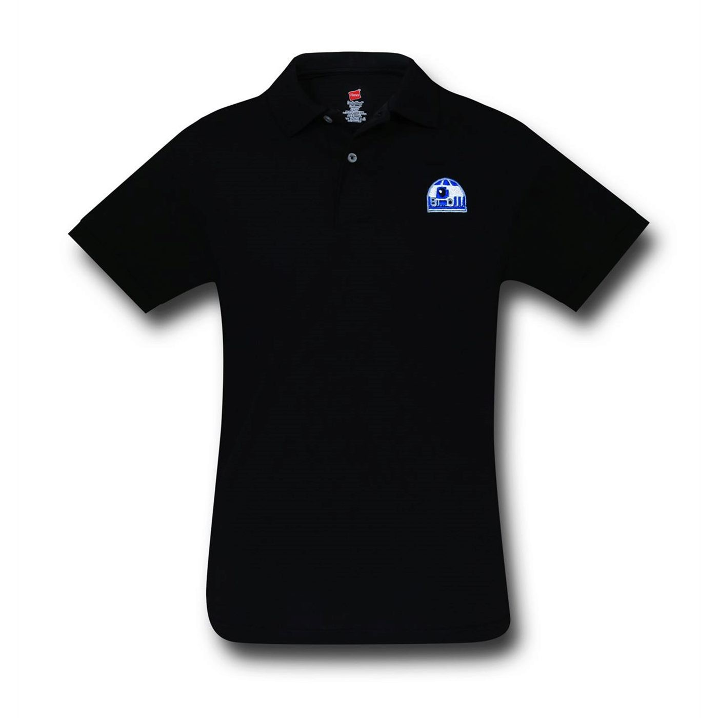 Star Wars R2D2 Black Polo Shirt