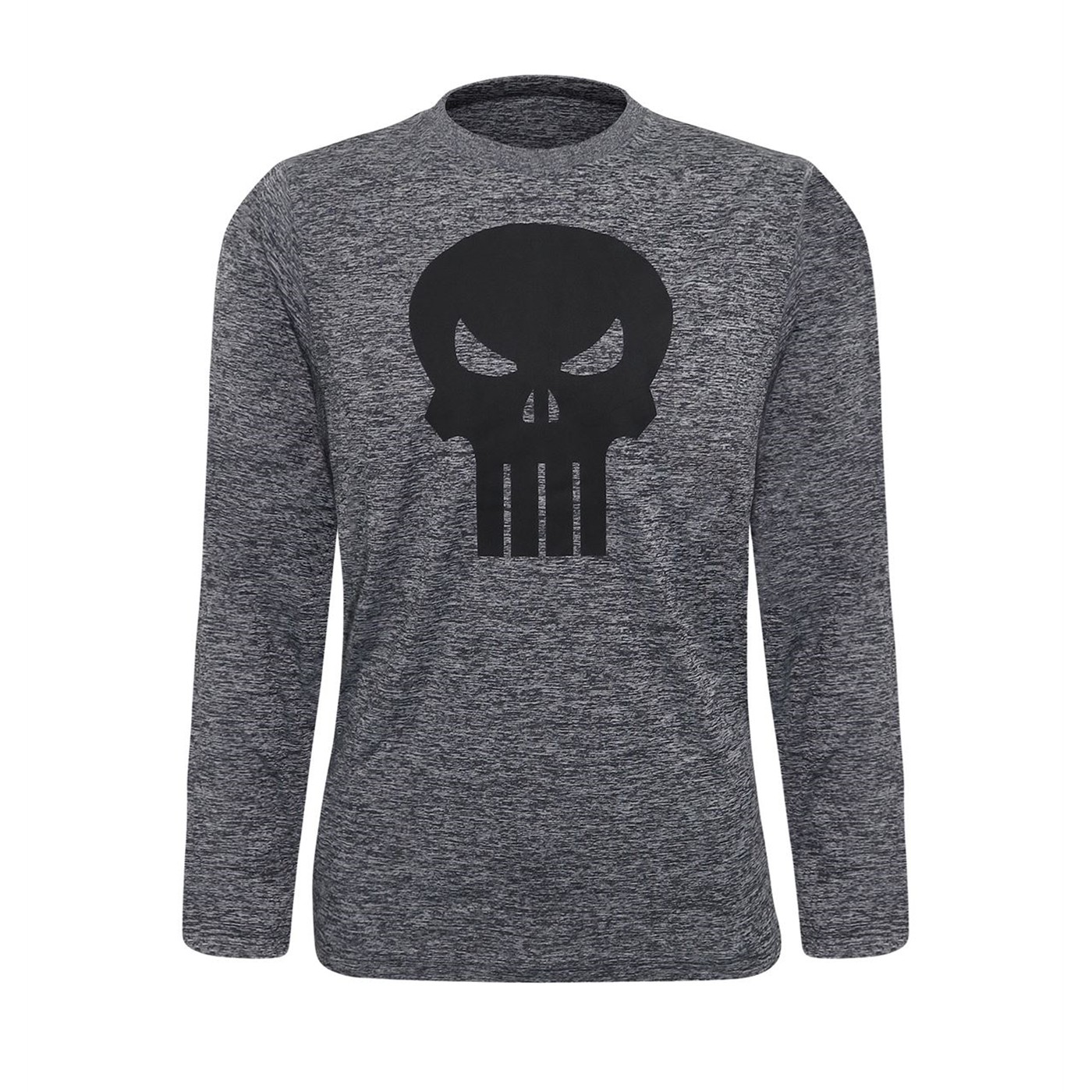 Punisher Heather Charcoal Men's Long Sleeve T-Shirt