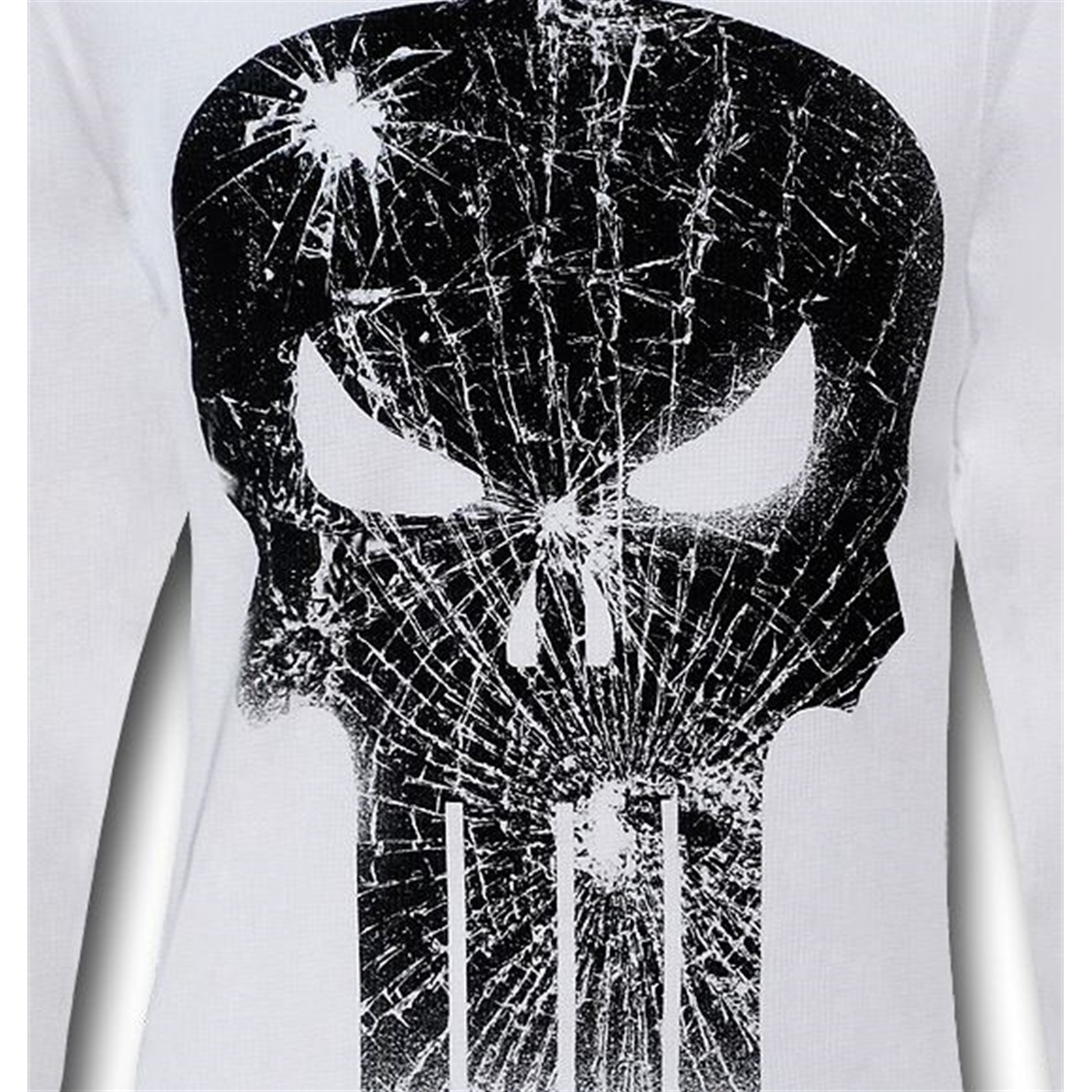 Punisher White Thermal Long Sleeve T-Shirt