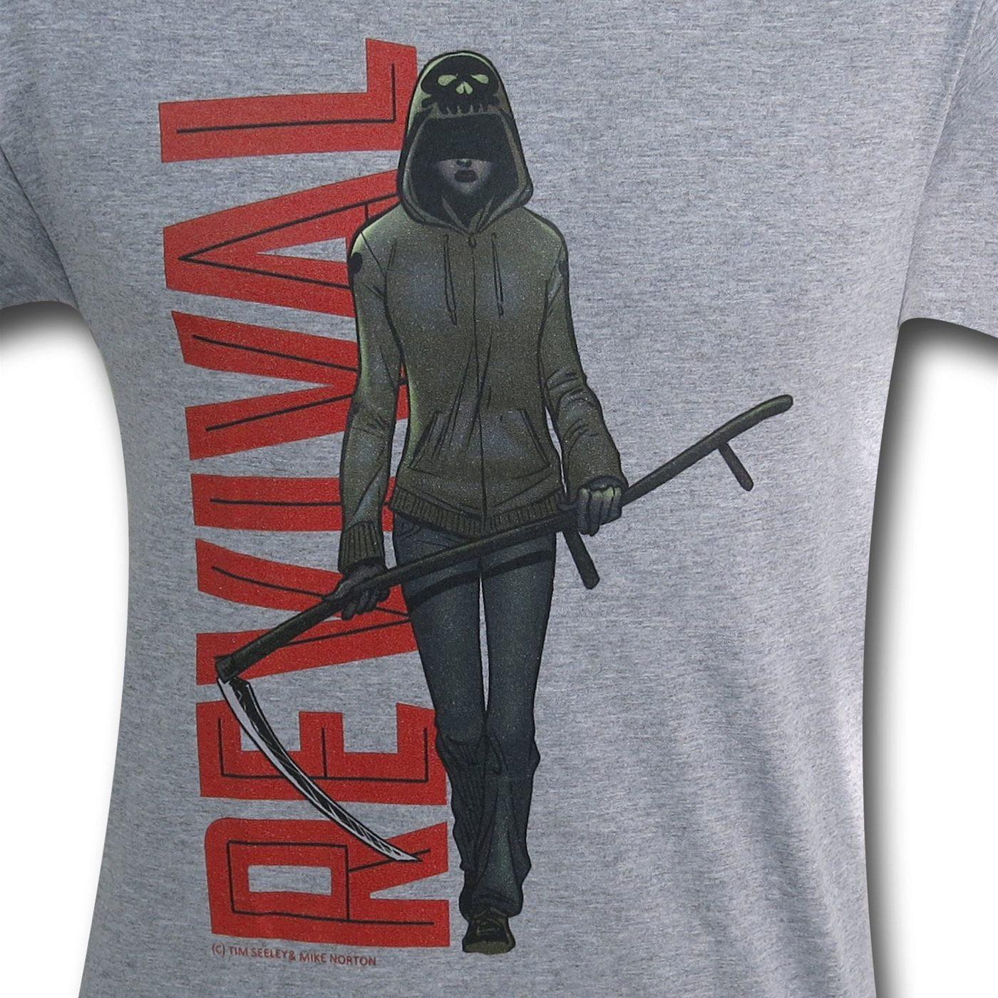Revival Martha Red Logo Silver T-Shirt