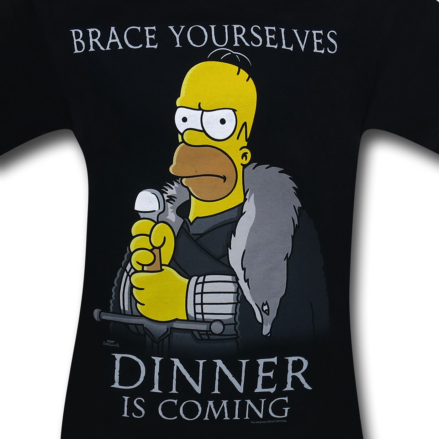 Simpsons Homer's Dinner Is Coming T-Shirt