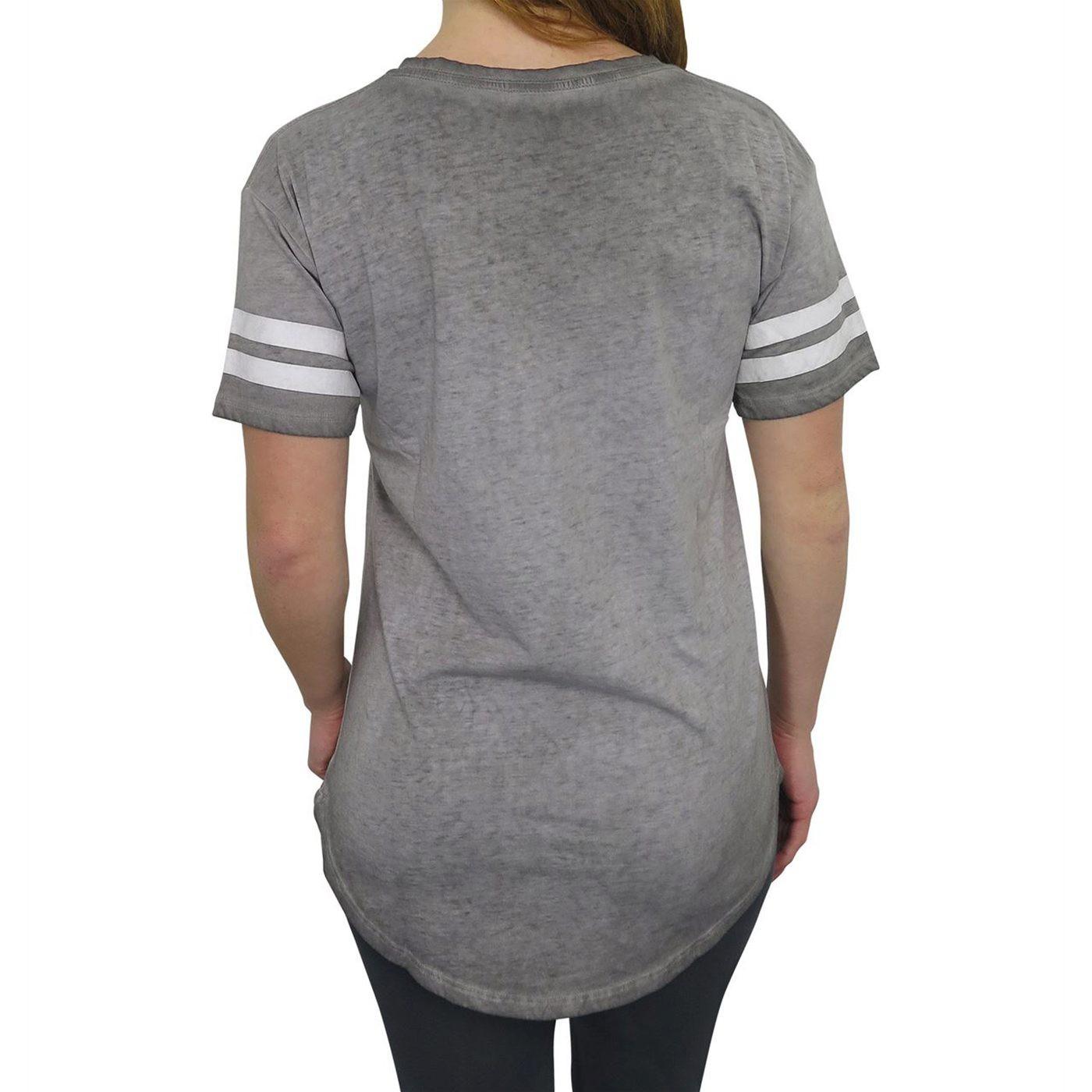 Spider-Man Athletic Women's Burnout V-Neck T-Shirt