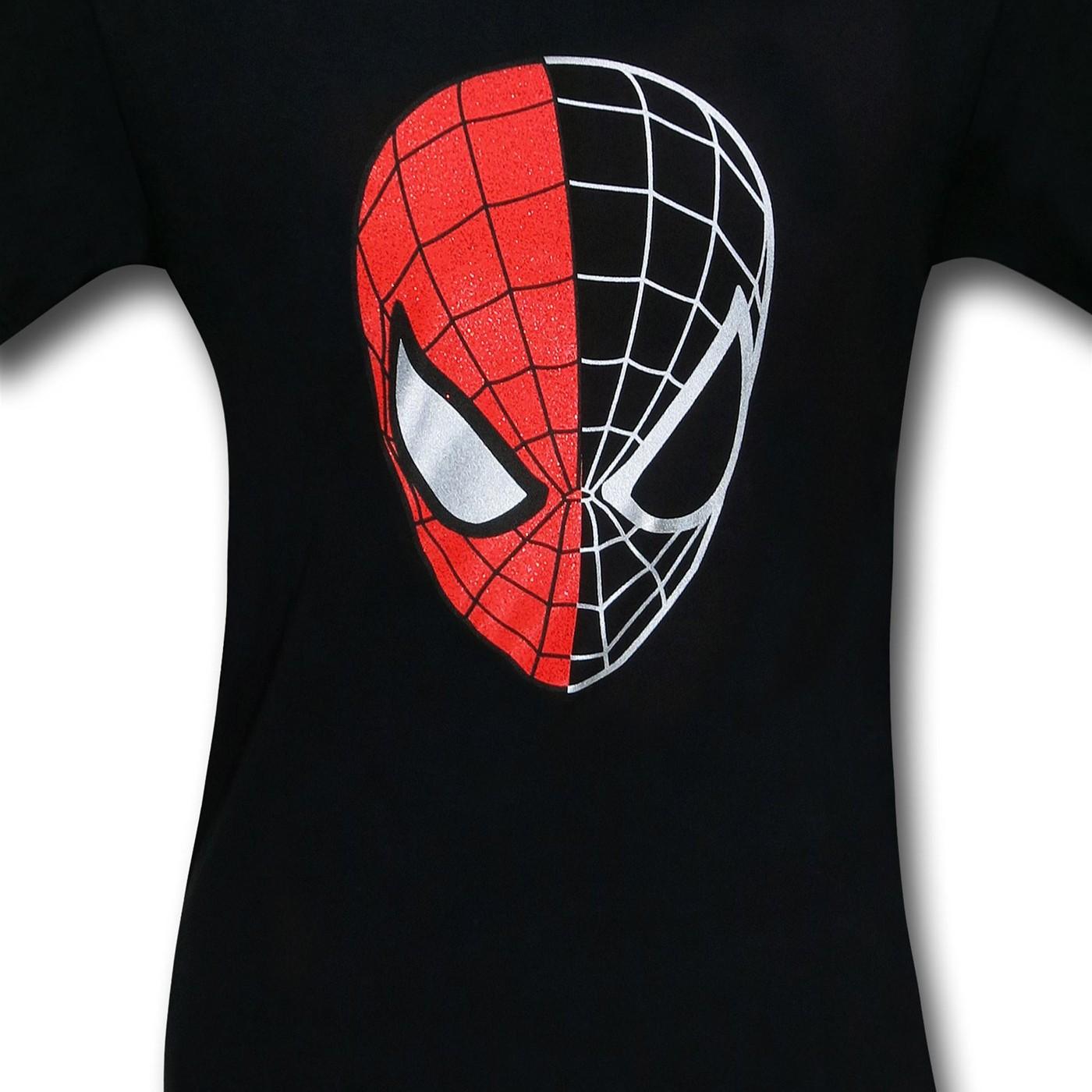 Spiderman Half-Gone Mask T-Shirt