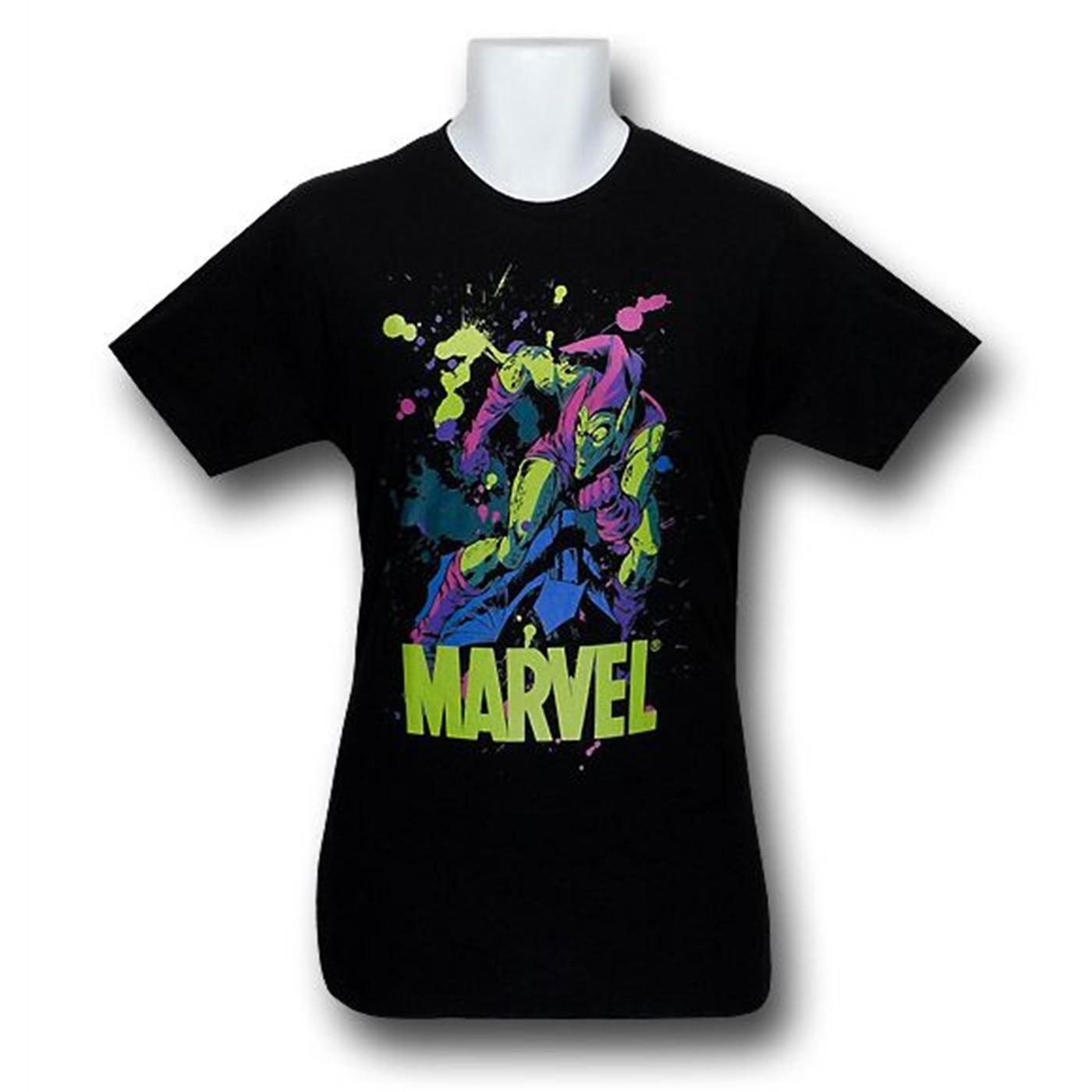 Green Goblin Splatter 30 Single T-Shirt
