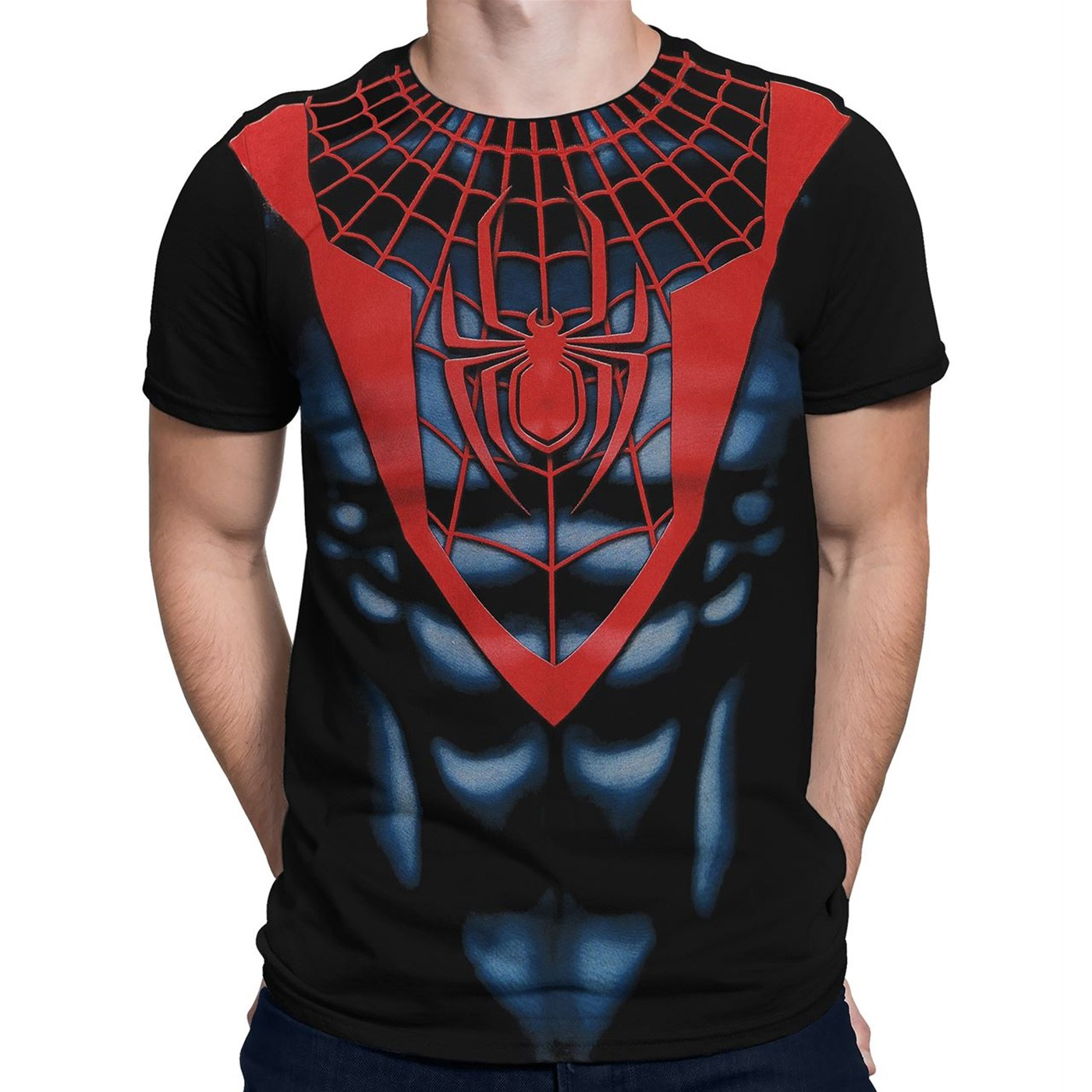 Ultimate Spider-Man Black Red Costume T-Shirt