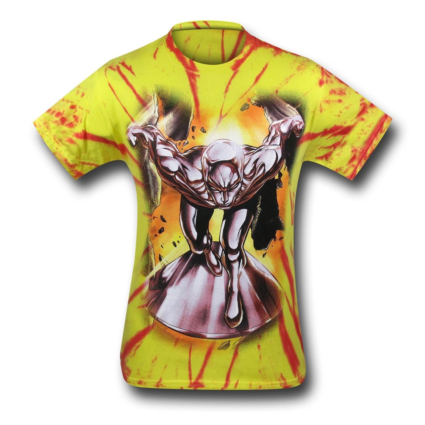 Silver Surfer Runnin' Wild Tie-Dye T-Shirt