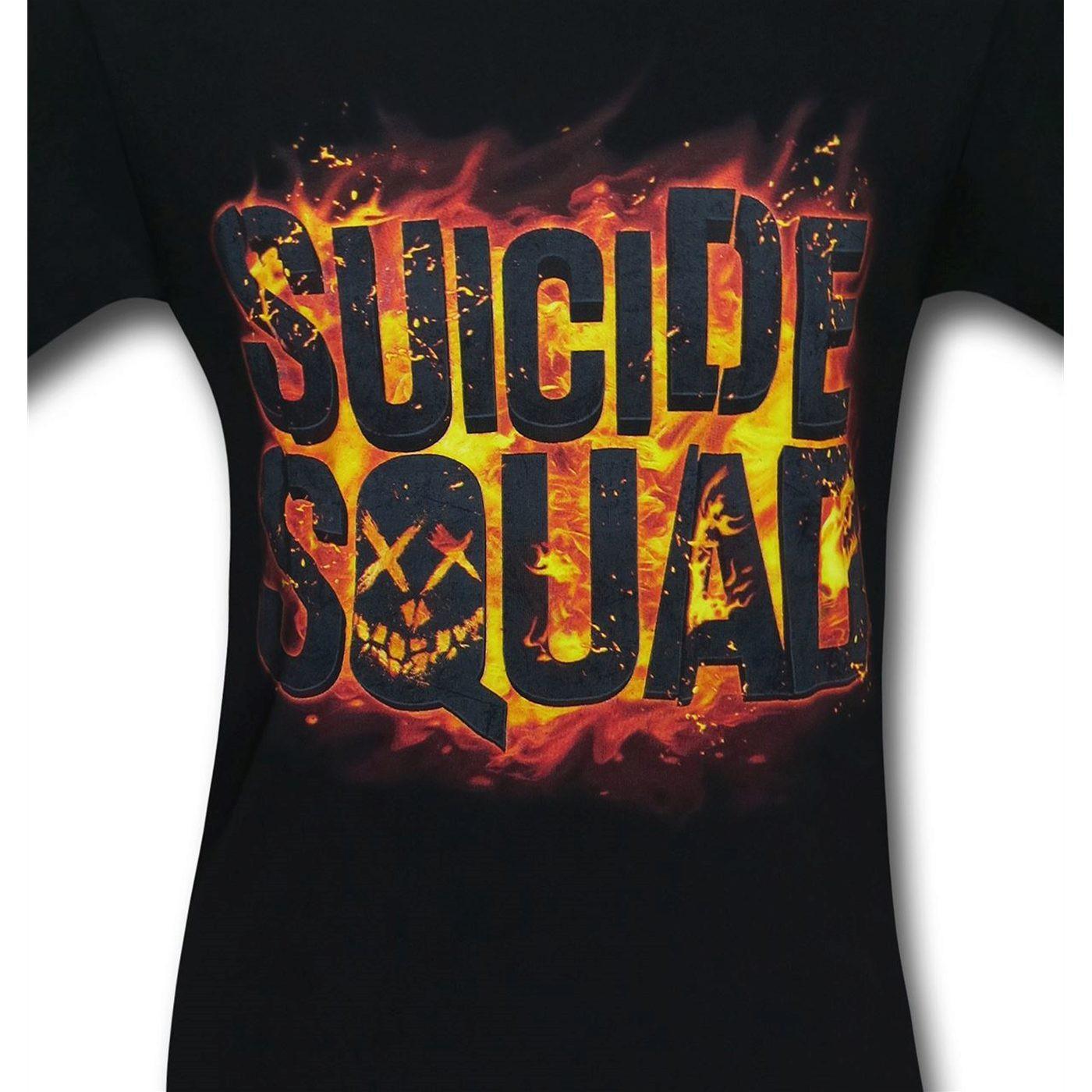 Suicide Squad Fire Logo Men's T-Shirt