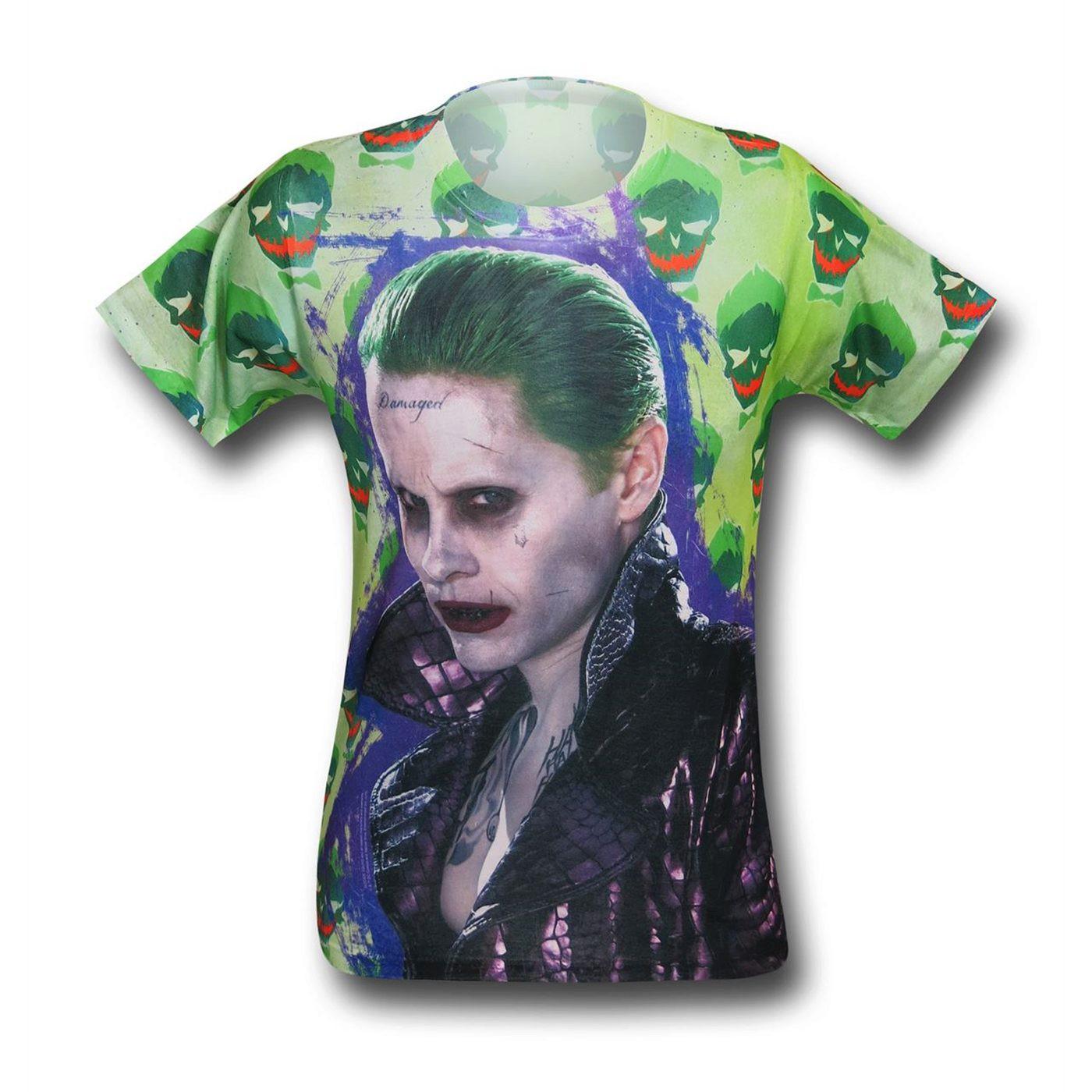 Suicide Squad Joker Jacket Sublimated Men's T-Shirt