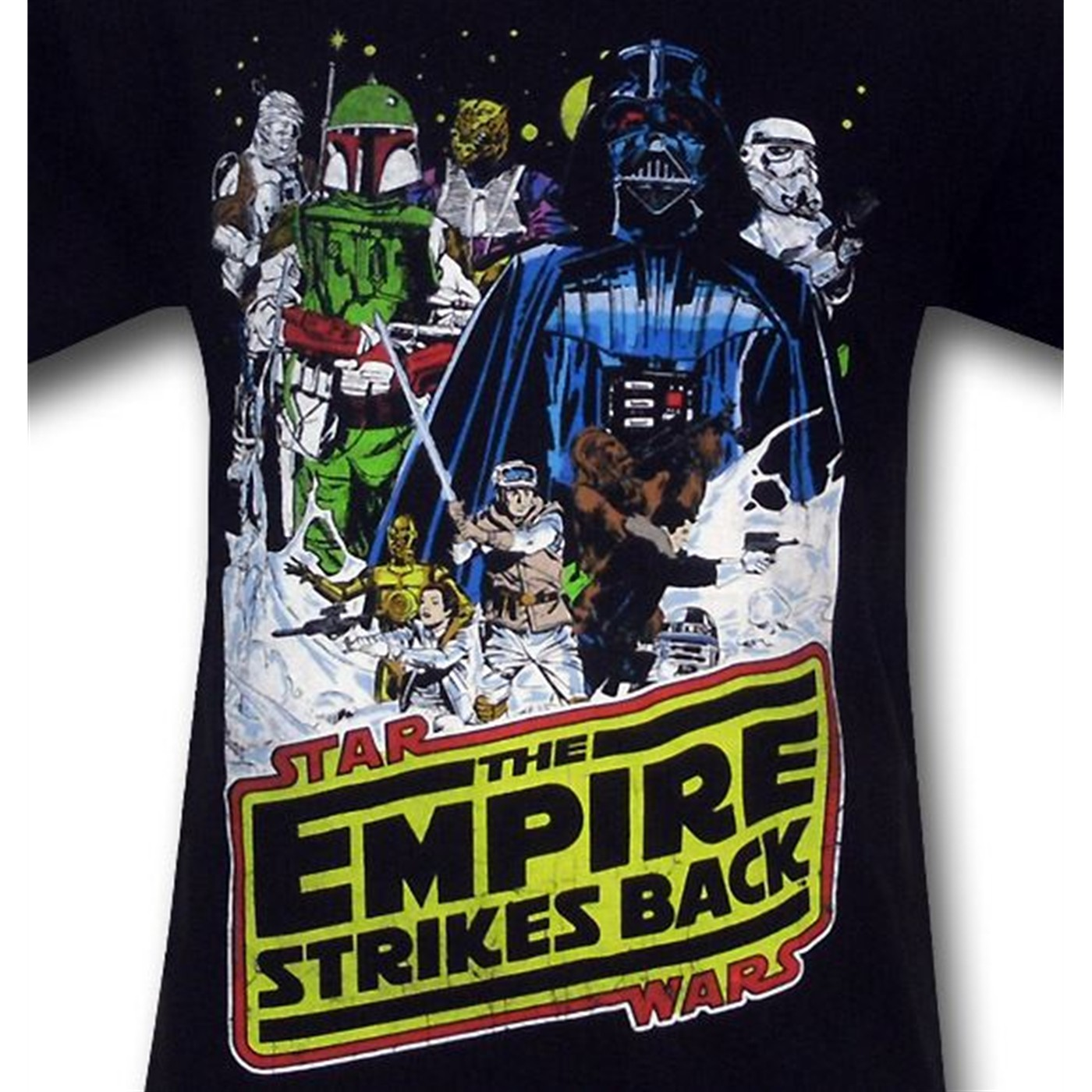 Star Wars Empire Cast and Logo Black T-Shirt