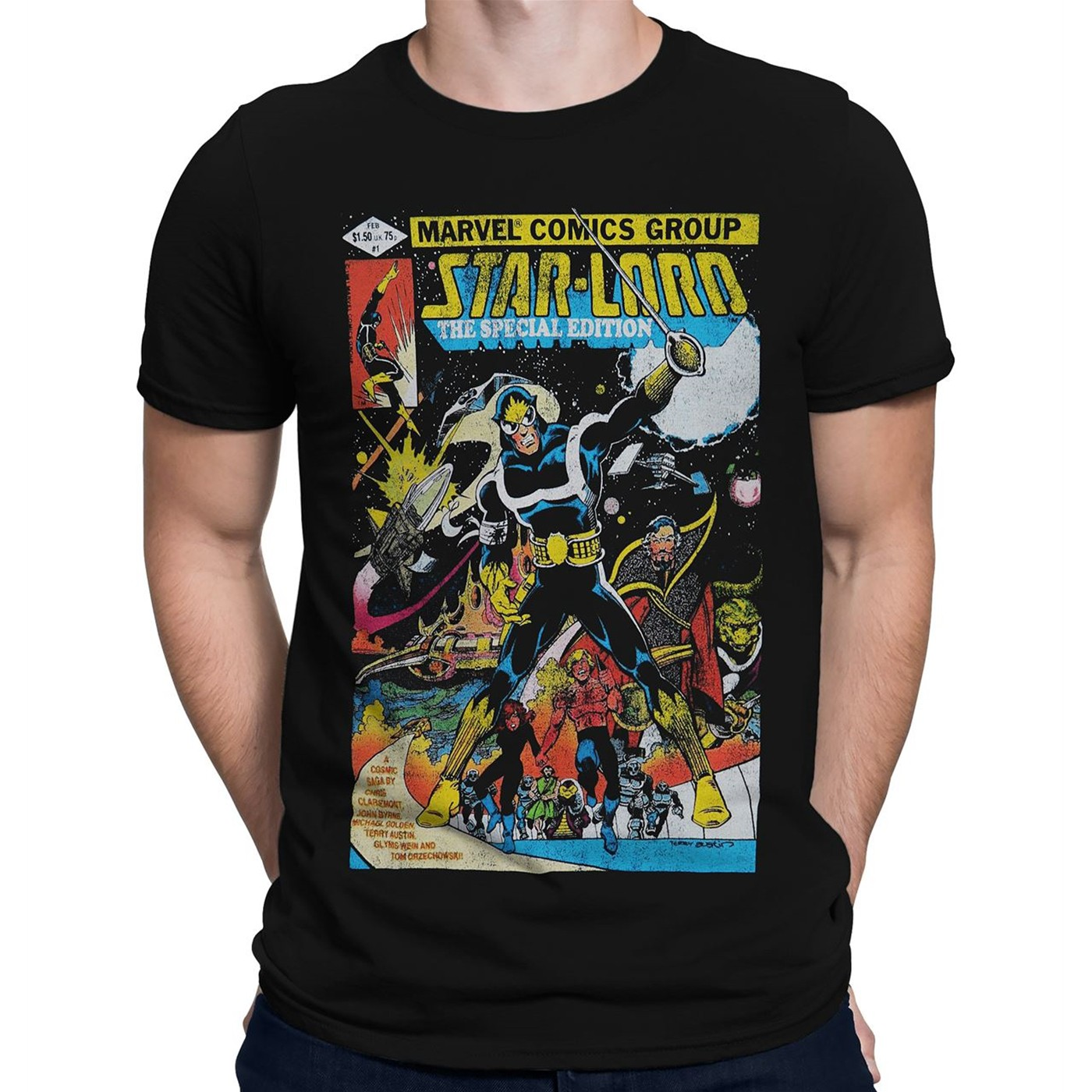 Best Star-Lord Comic Cover Men's T-Shirt