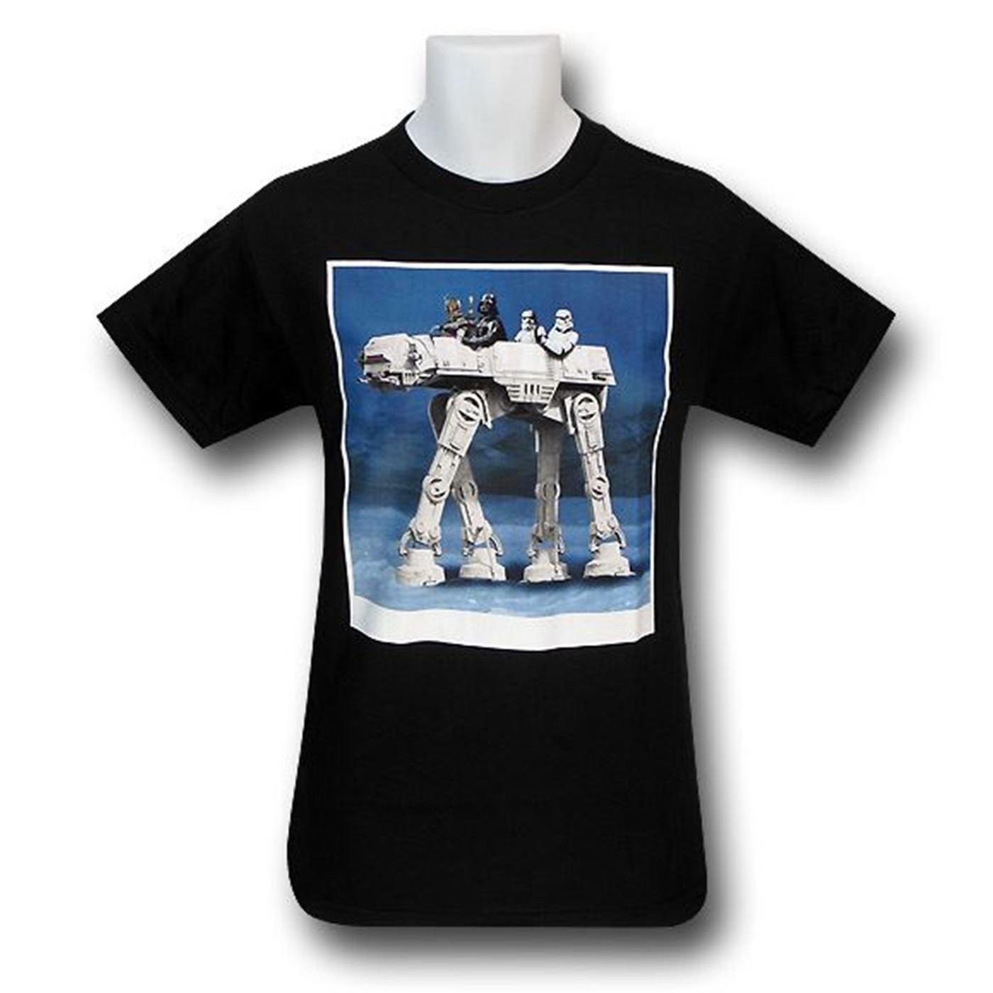 Star Wars AT-AT Ride Black T-Shirt