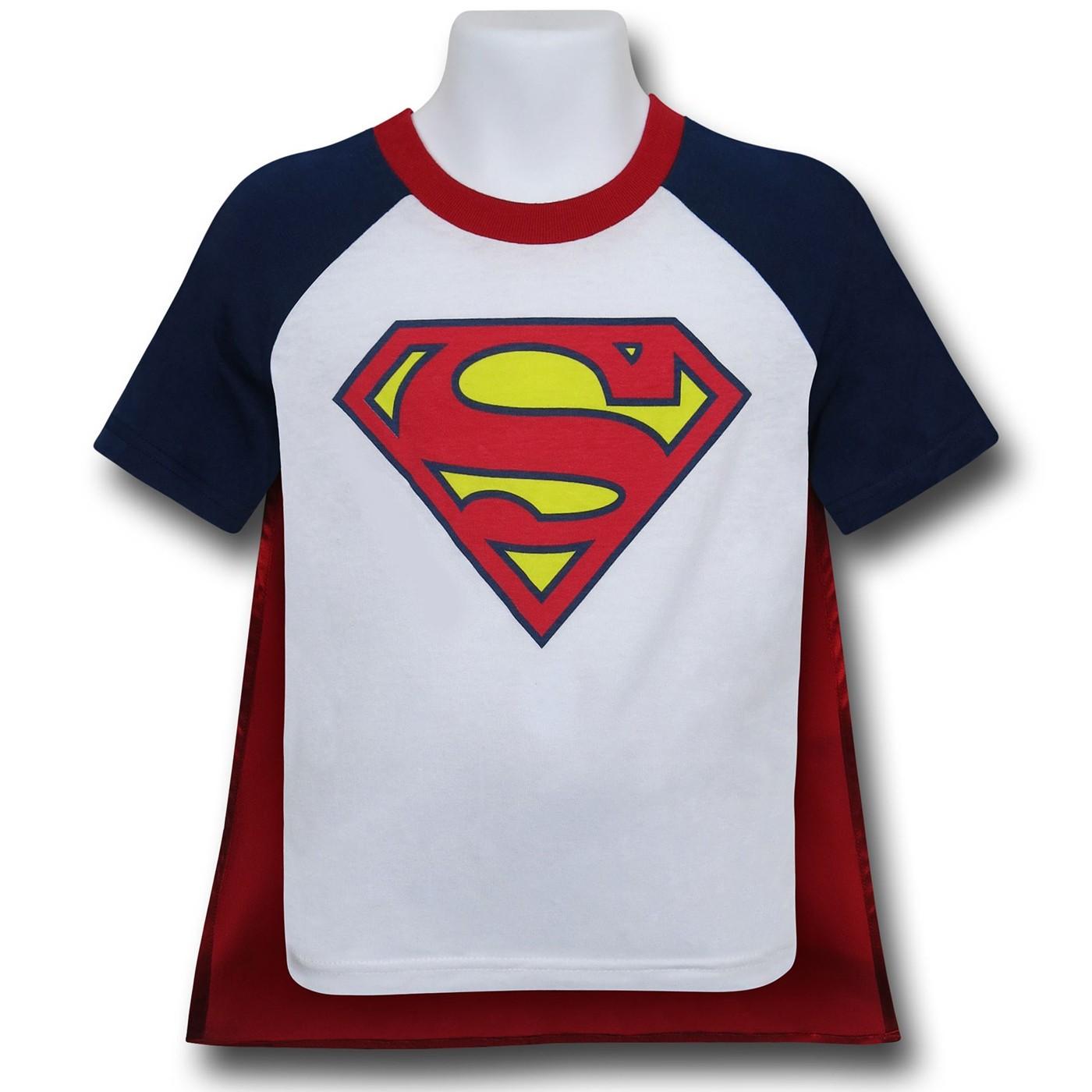 Superman Kids Caped T-Shirt