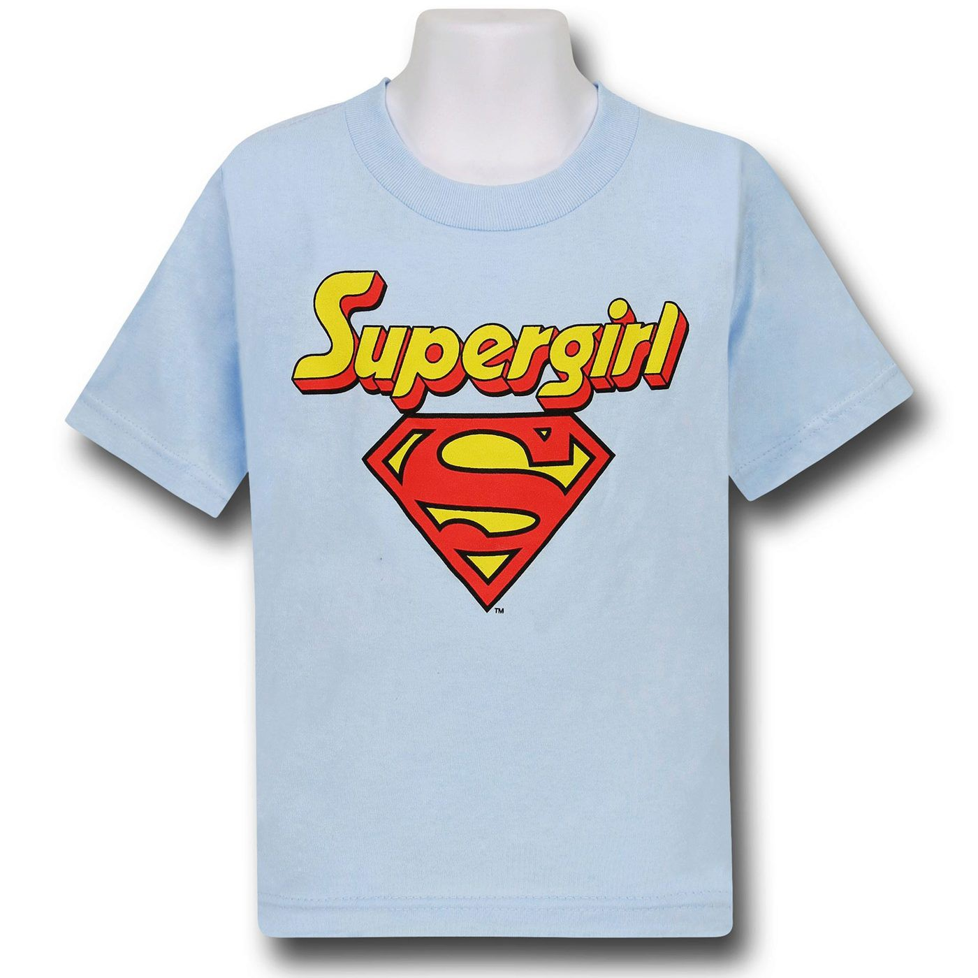 Supergirl Kids Blue Logo T-Shirt