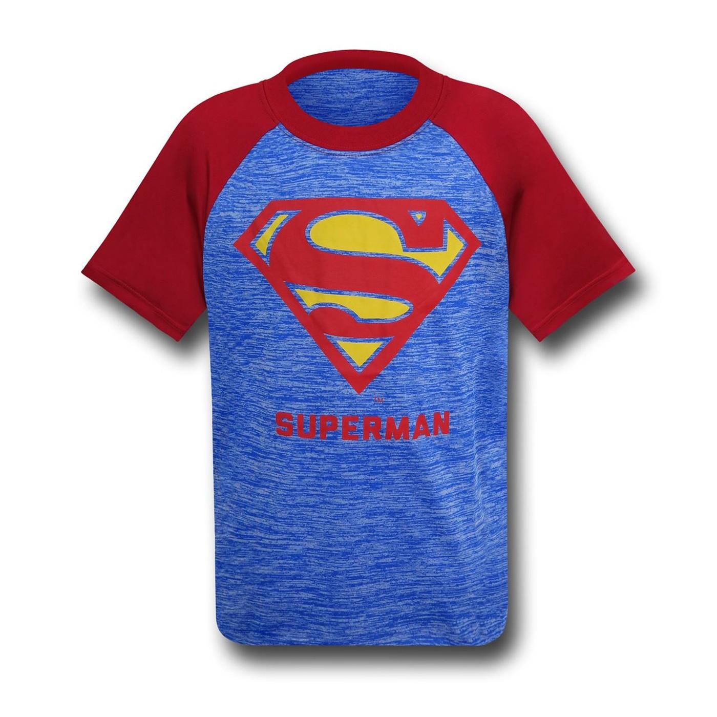 Superman Classic Symbol Space Dye T-Shirt