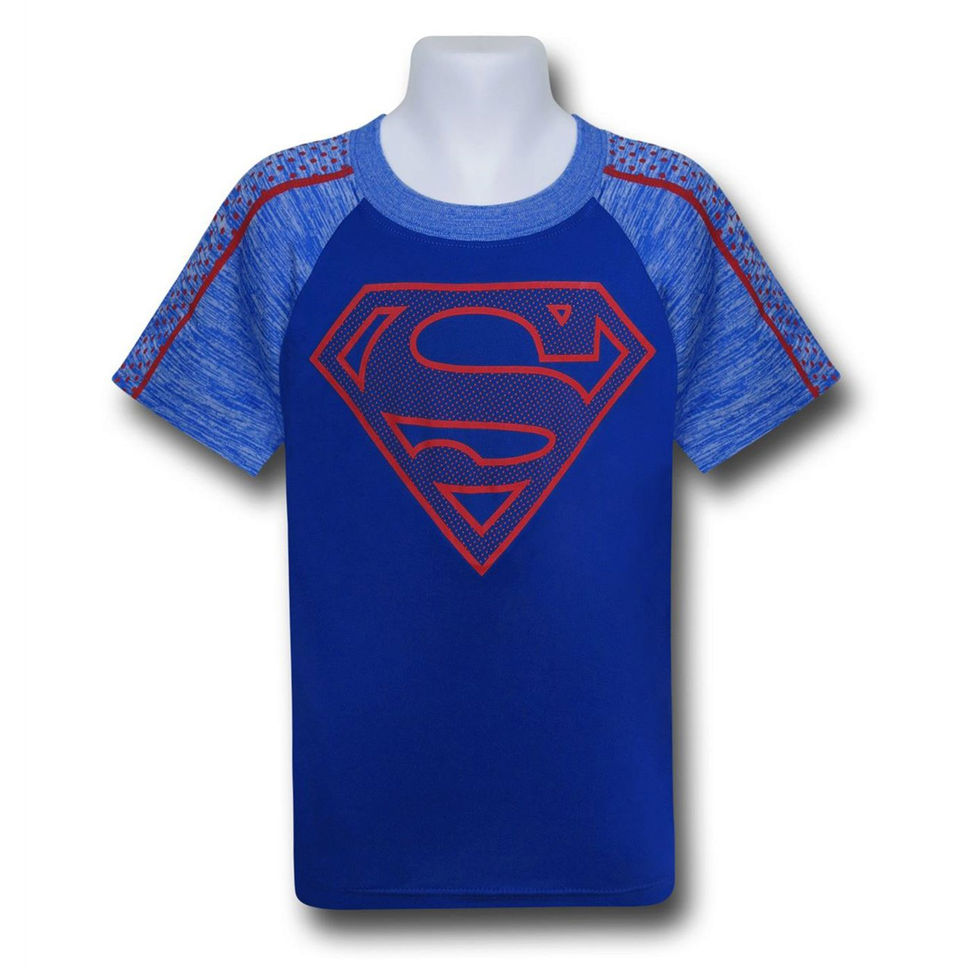 Superman Kids Symbol on Blue Space Dye T-Shirt