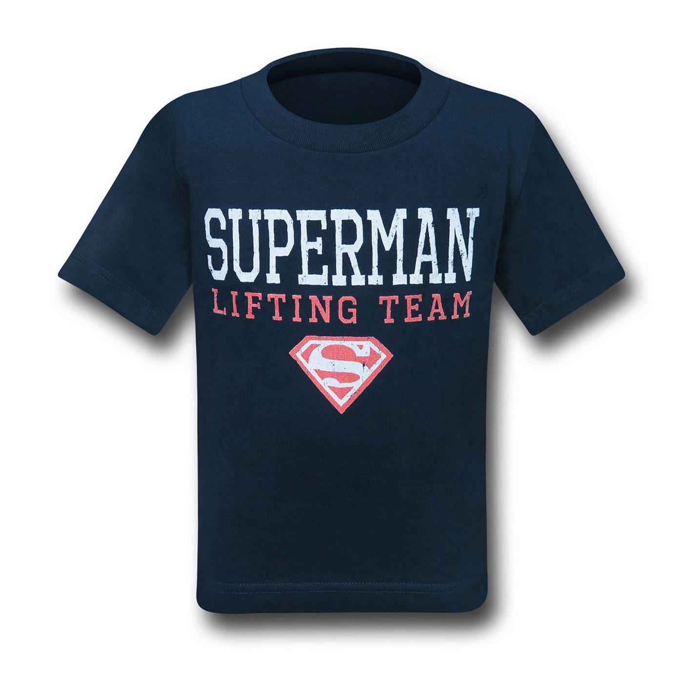 Superman Lifting Team Kids T-Shirts