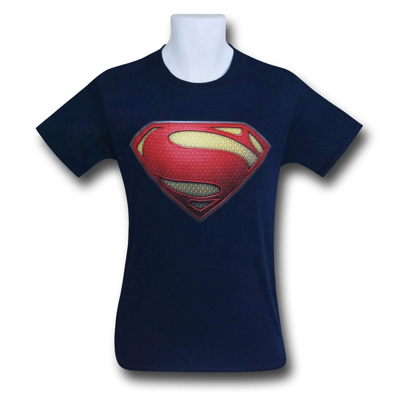 Superman BvS Symbol Navy T-Shirt
