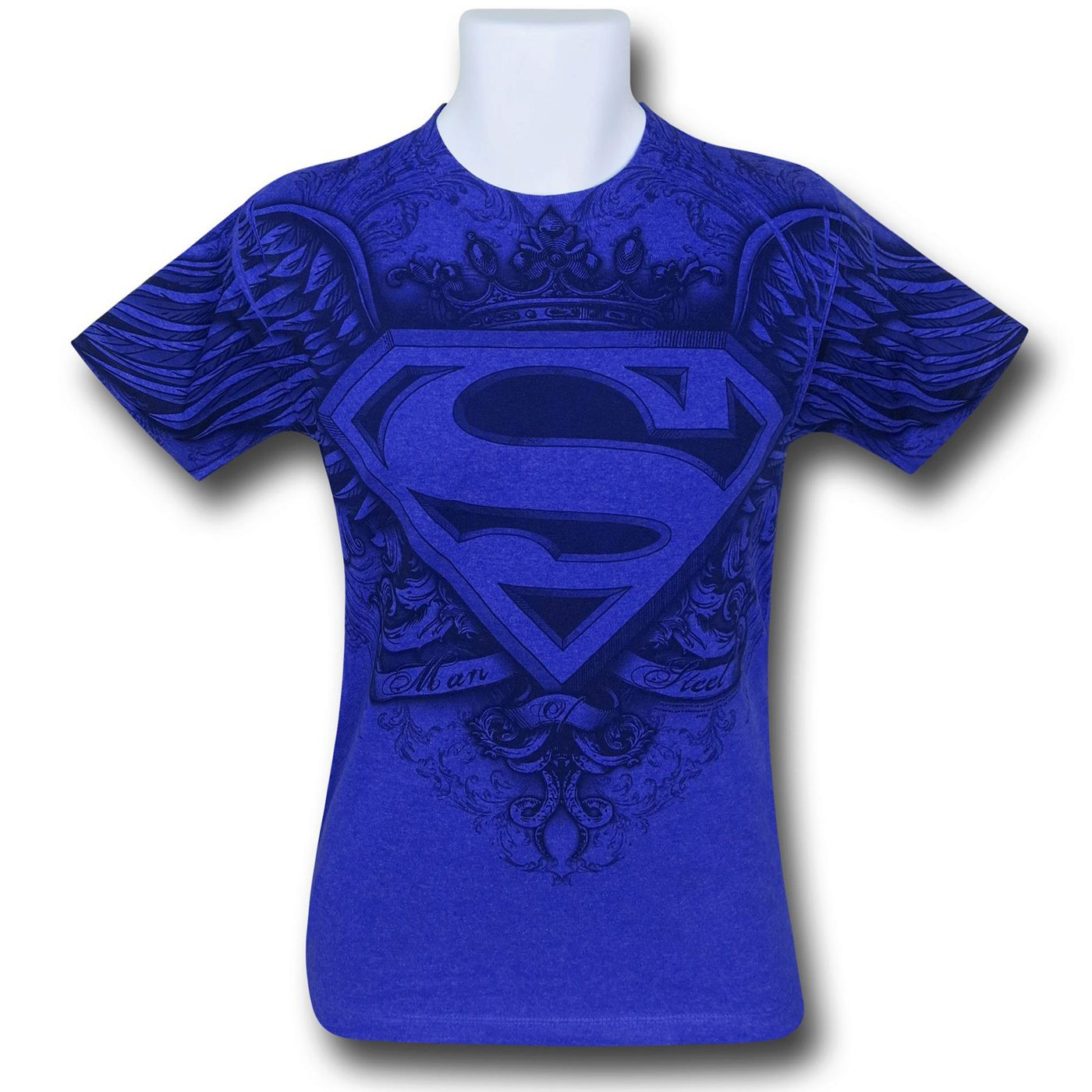Superman Winged Symbol Blue Sublimated T-Shirt