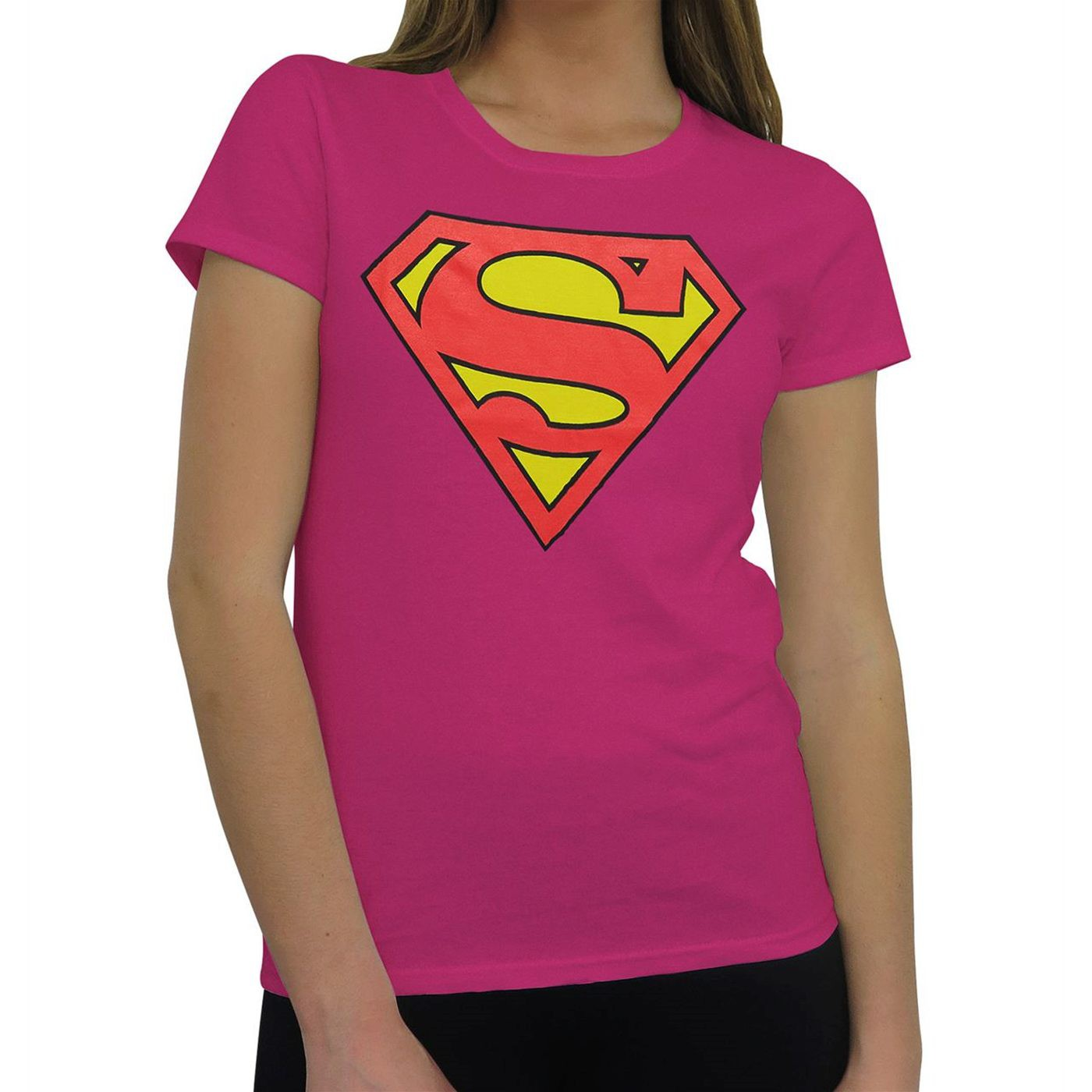 Superman Symbol Women's Pink T-Shirt