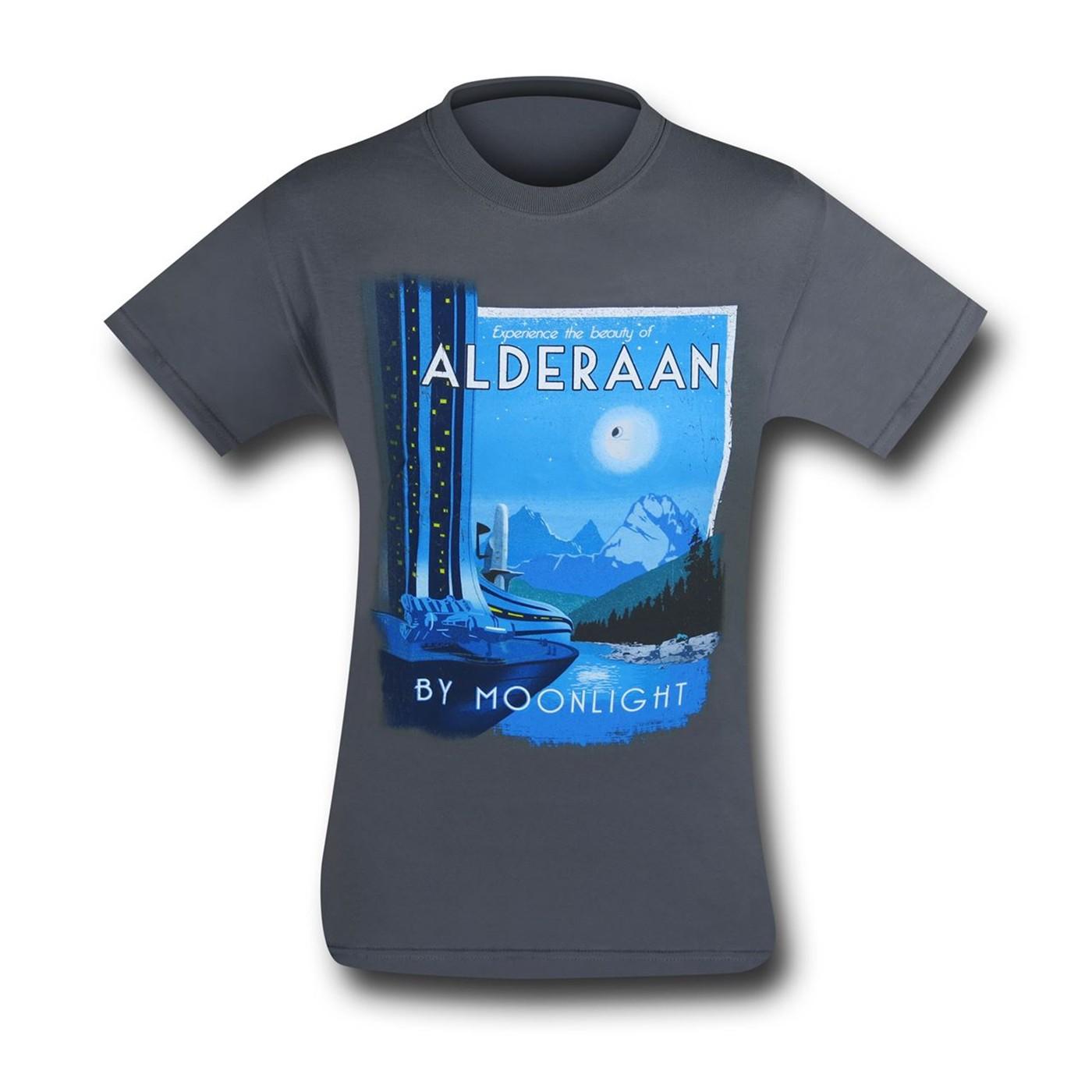 Star Wars Alderaan By Moonlight Men's T-Shirt