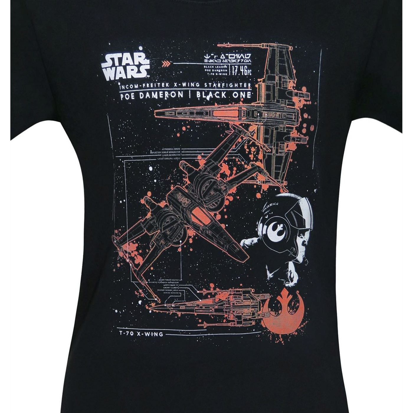 Star Wars Black One T-70 X-Wing Men's T-Shirt