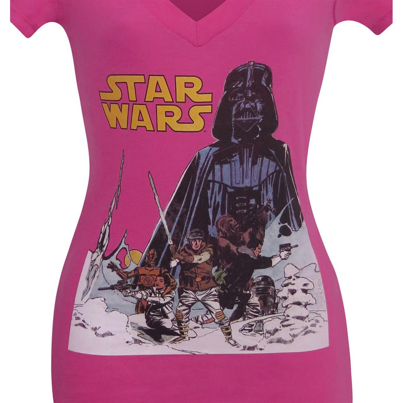 Star Wars Hoth Women's Pink V-Neck T-Shirt
