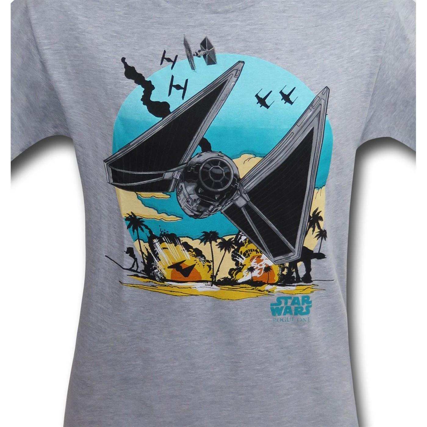 Star Wars Rogue One Tie Fighter Flight Kids T-Shirt