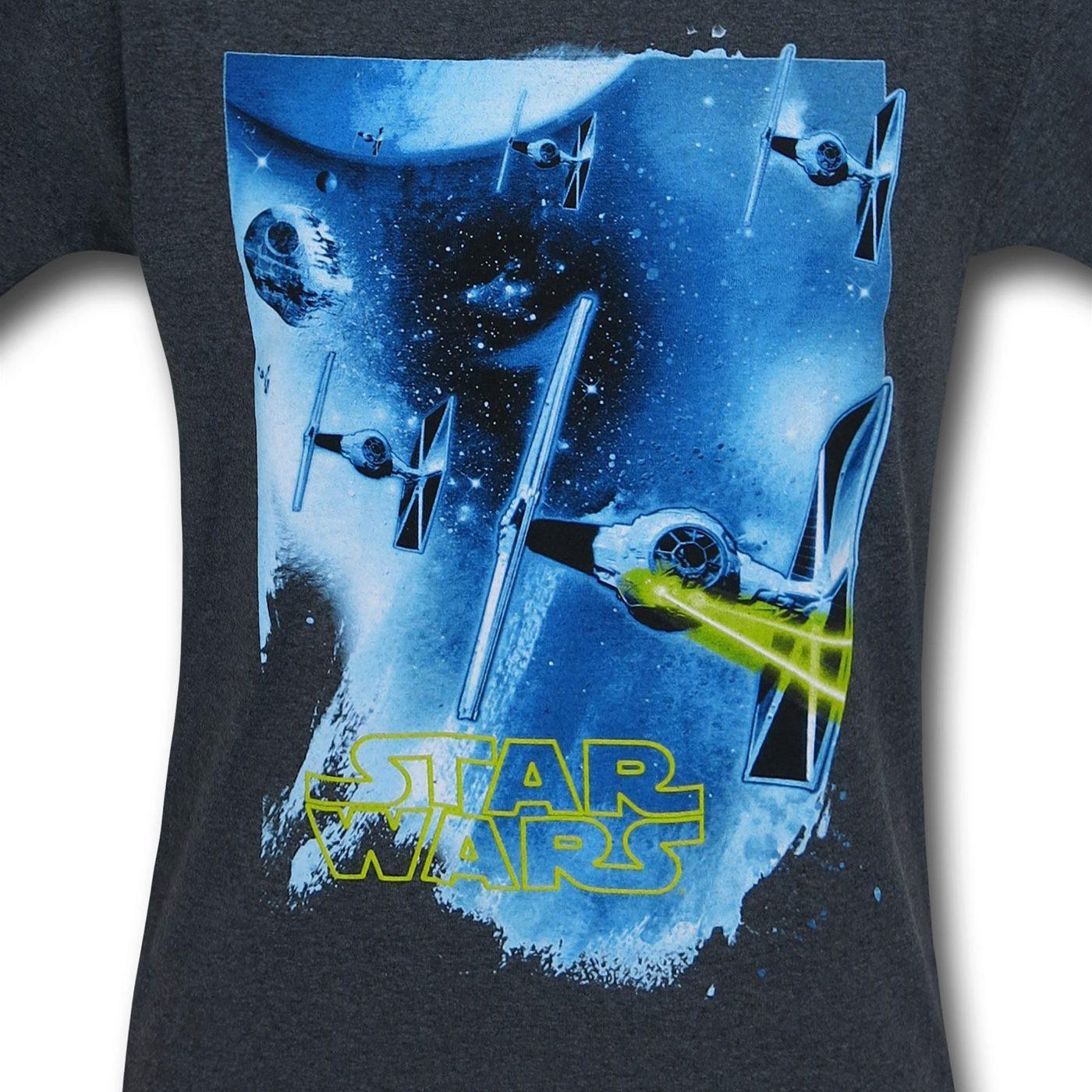 Star Wars TIE Fighter Ringer T-Shirt