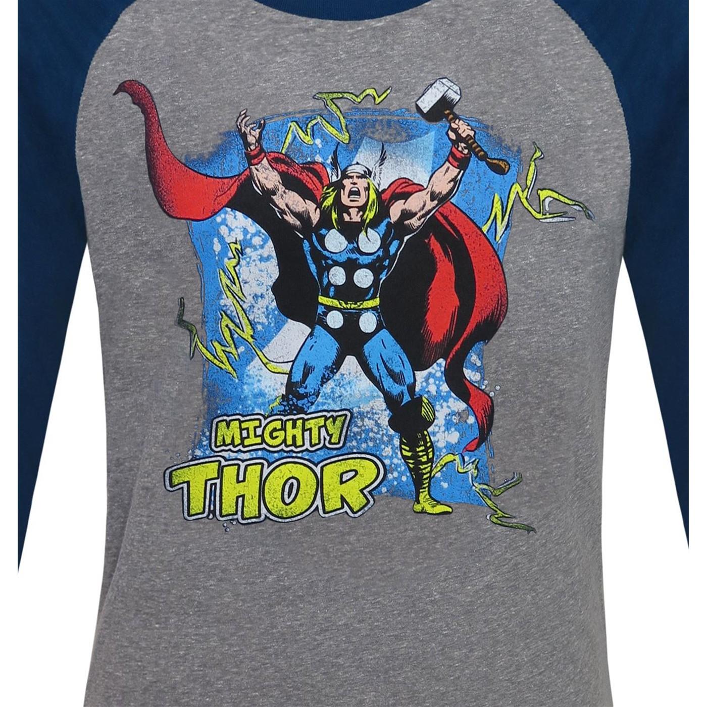 Mighty Thor by John Buscema Men's Baseball T-Shirt