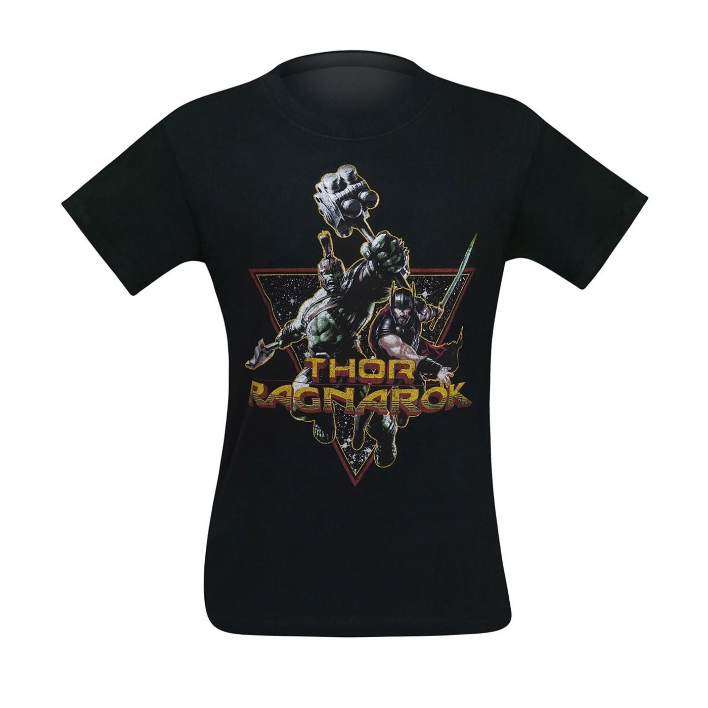 Thor Ragnarok Space Buddies Team Up Men's T-Shirt