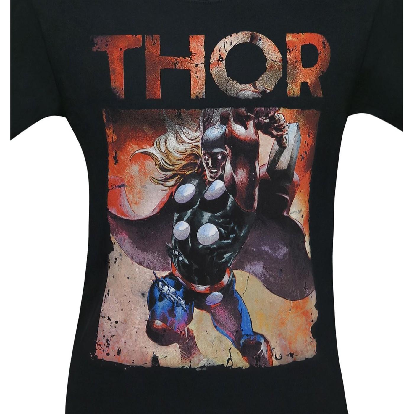 Thor Raging Thunder God Men's T-Shirt